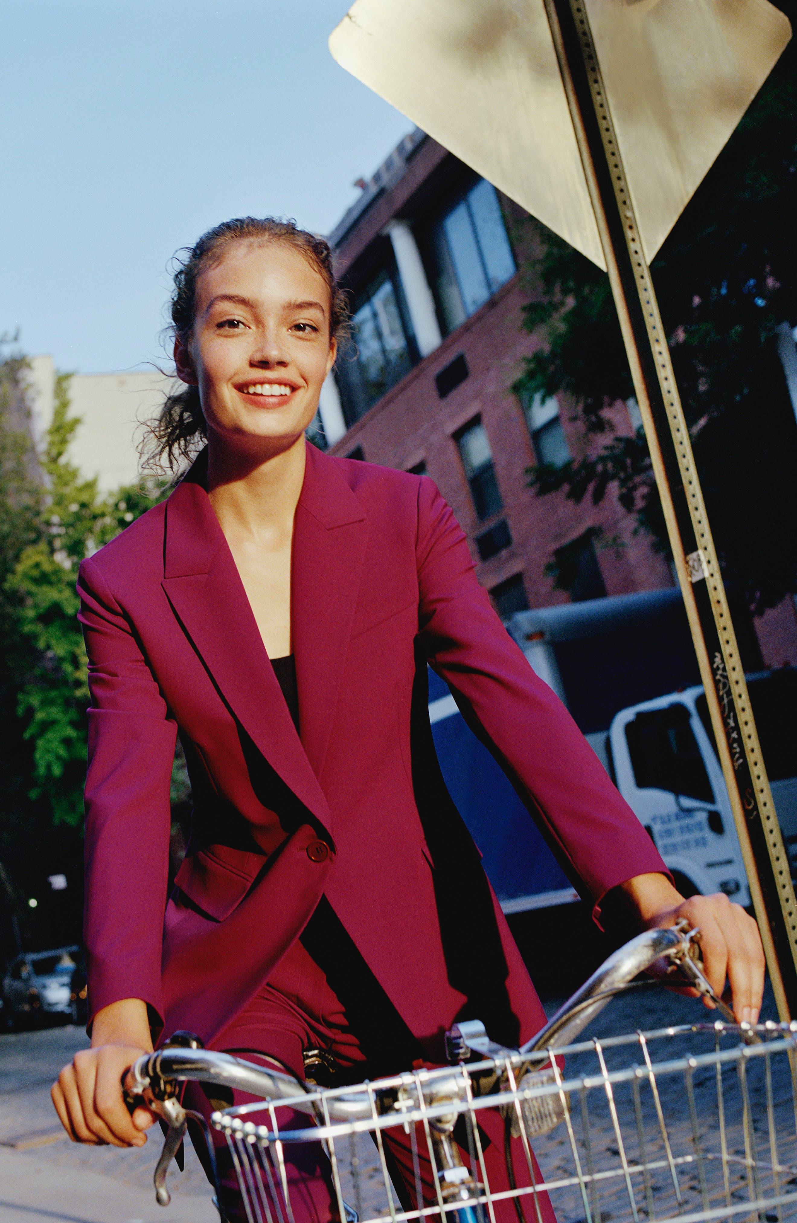 Etienette B Good Wool Suit Jacket,                             Alternate thumbnail 7, color,                             Electric Pink