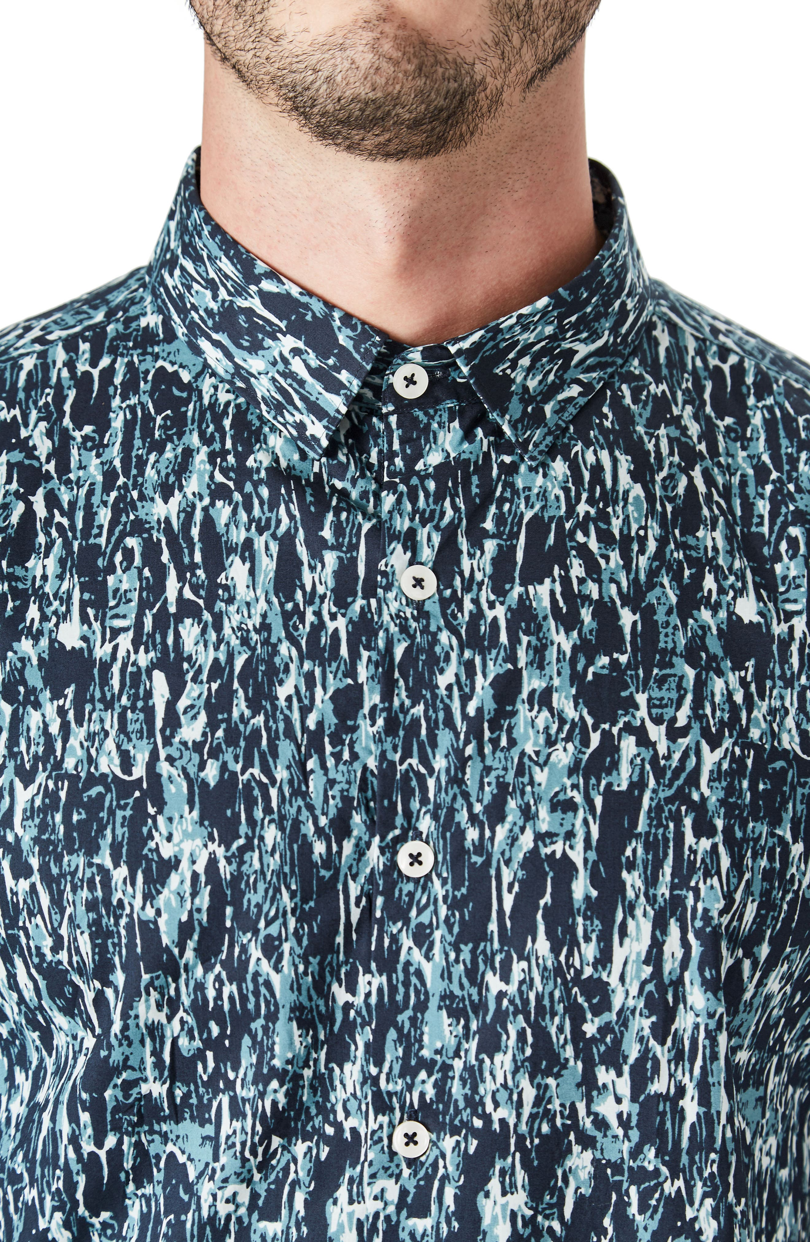 Universal Sound Woven Shirt,                             Alternate thumbnail 3, color,                             Midnight G