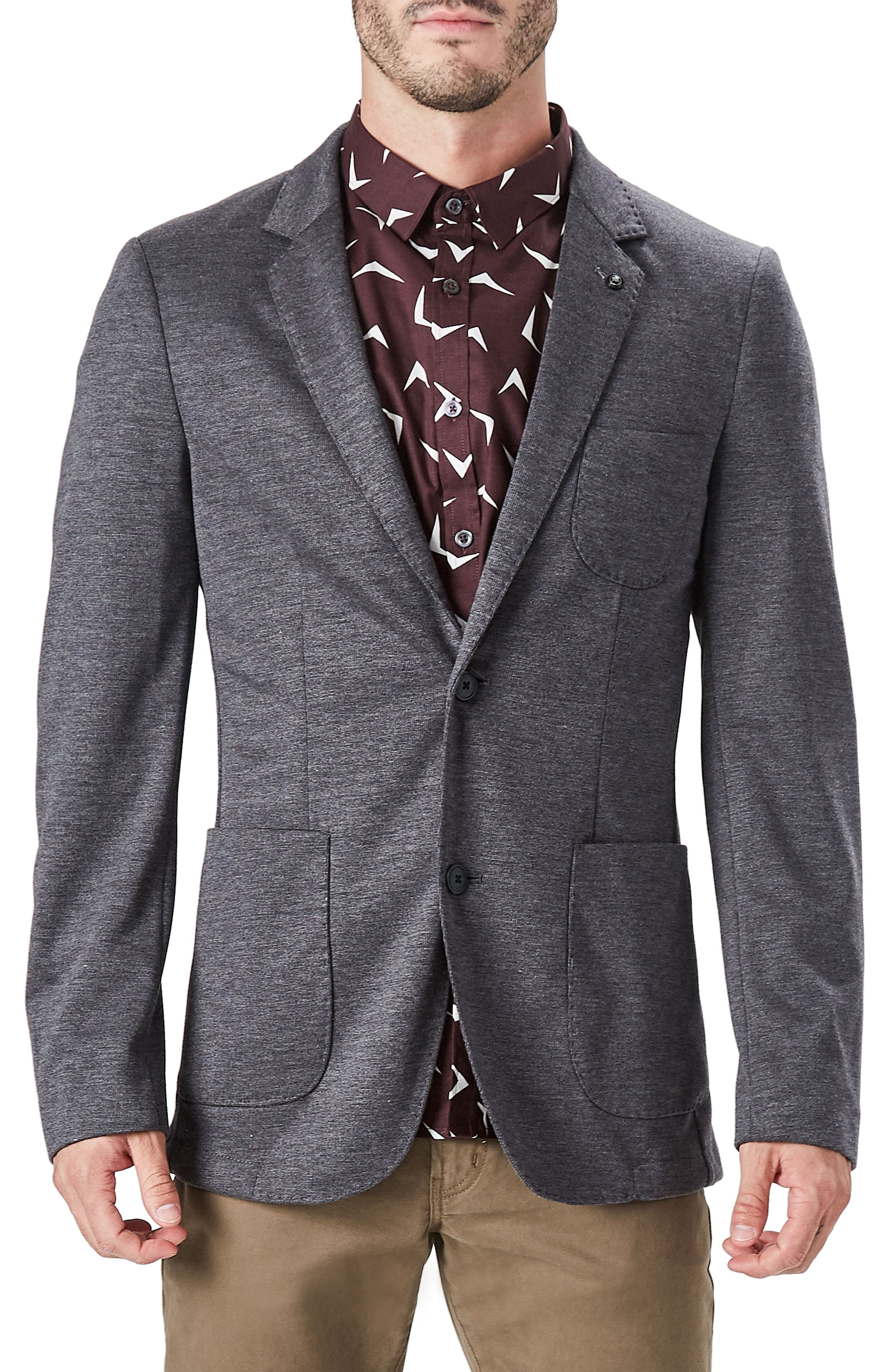 Massa Casual Blazer,                         Main,                         color, Charcoal