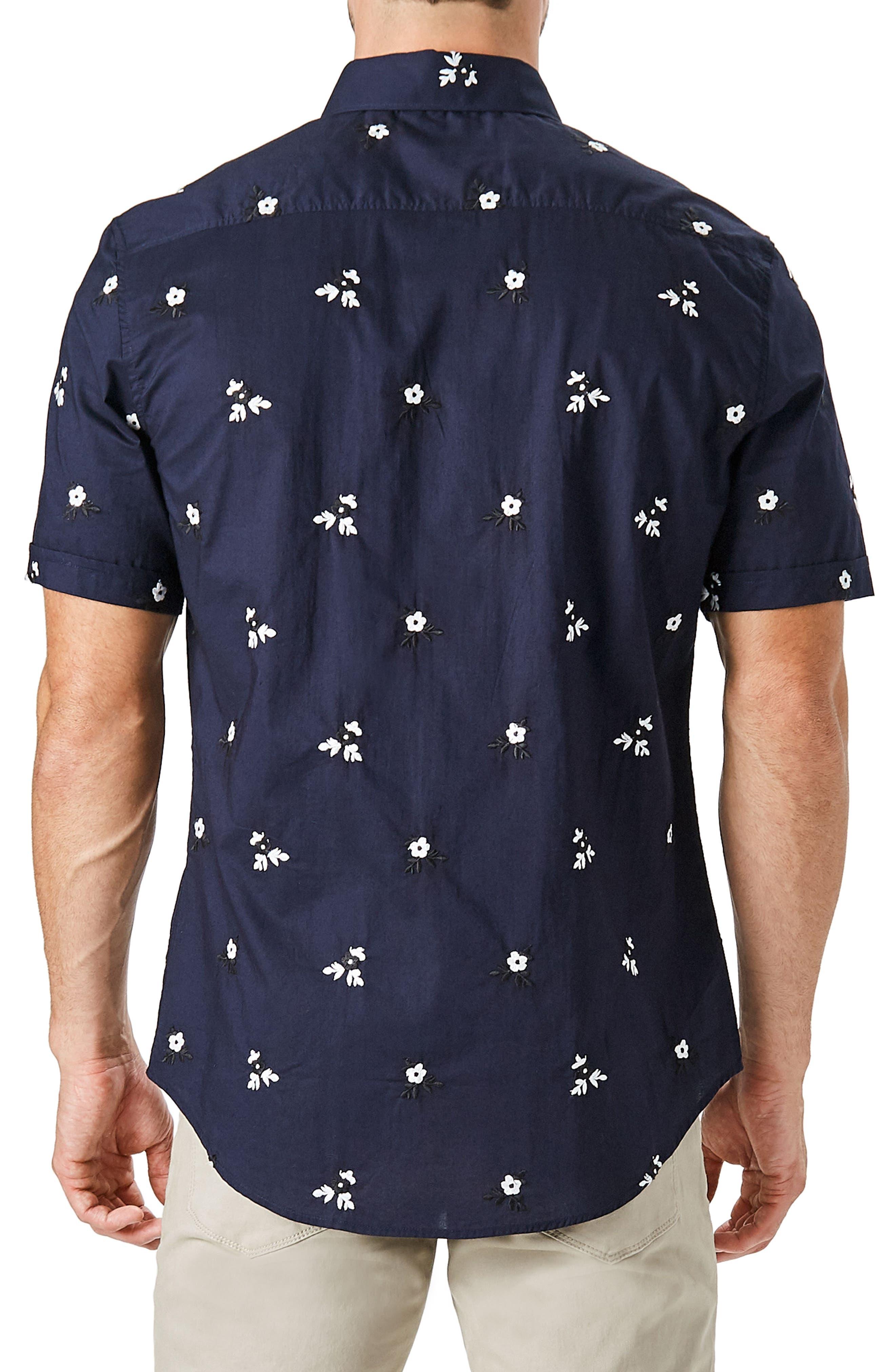 Isolator Woven Shirt,                             Alternate thumbnail 3, color,                             Navy