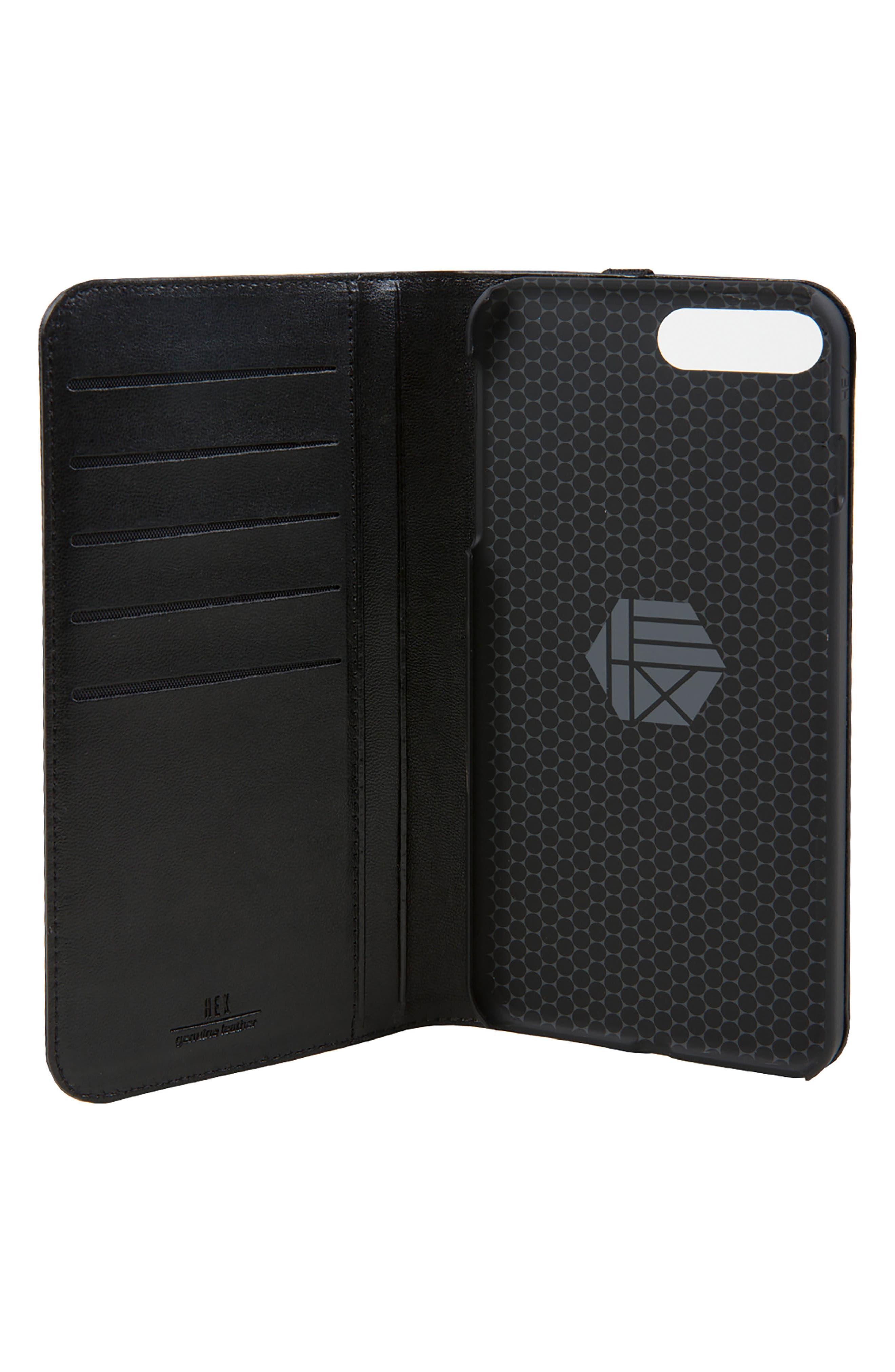 Icon iPhone 6/6s/7/8 Plus Wallet Case,                             Alternate thumbnail 3, color,                             Black