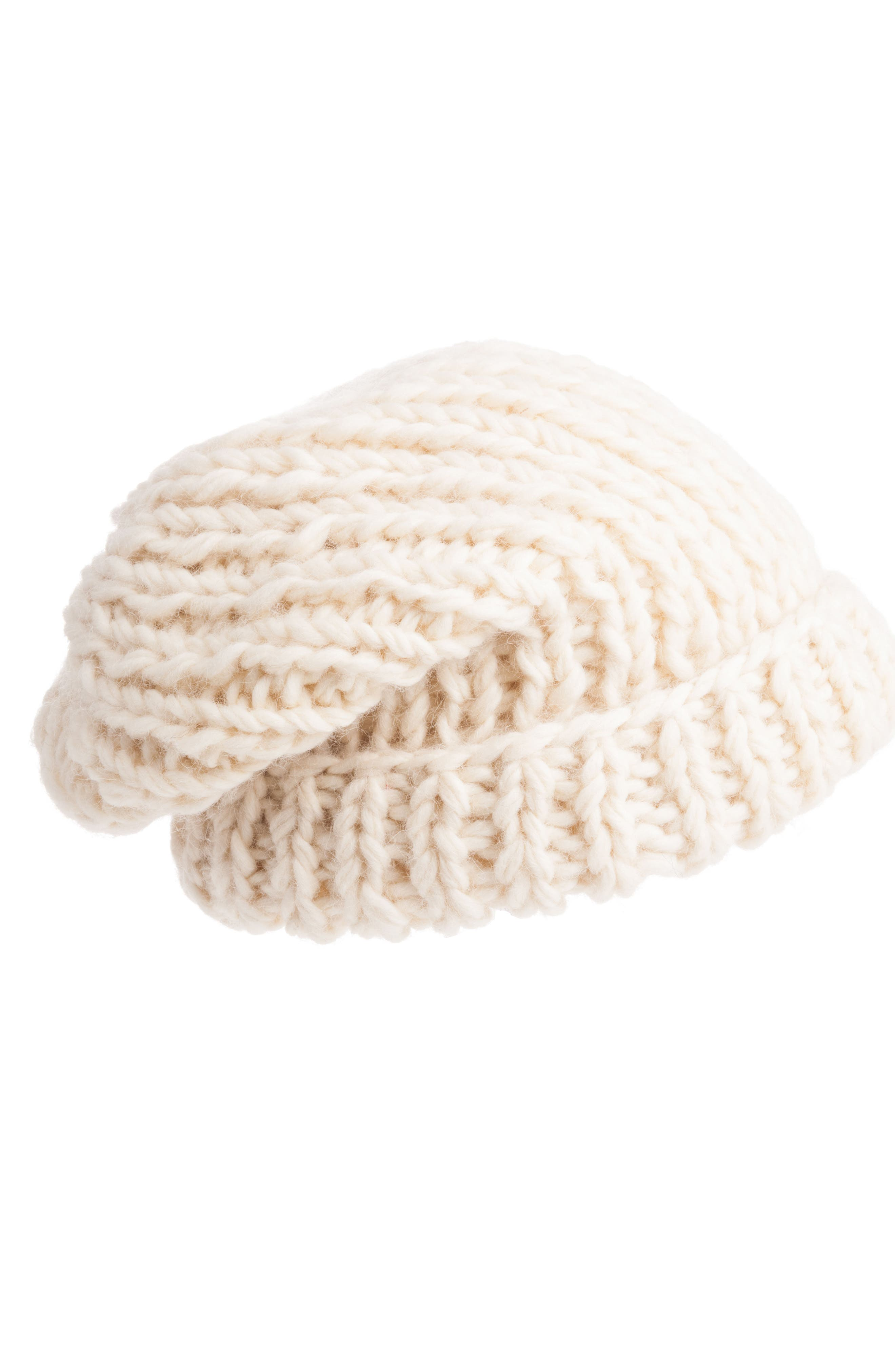 Nirvana Designs Chunky Knit Slouchy Wool Cap