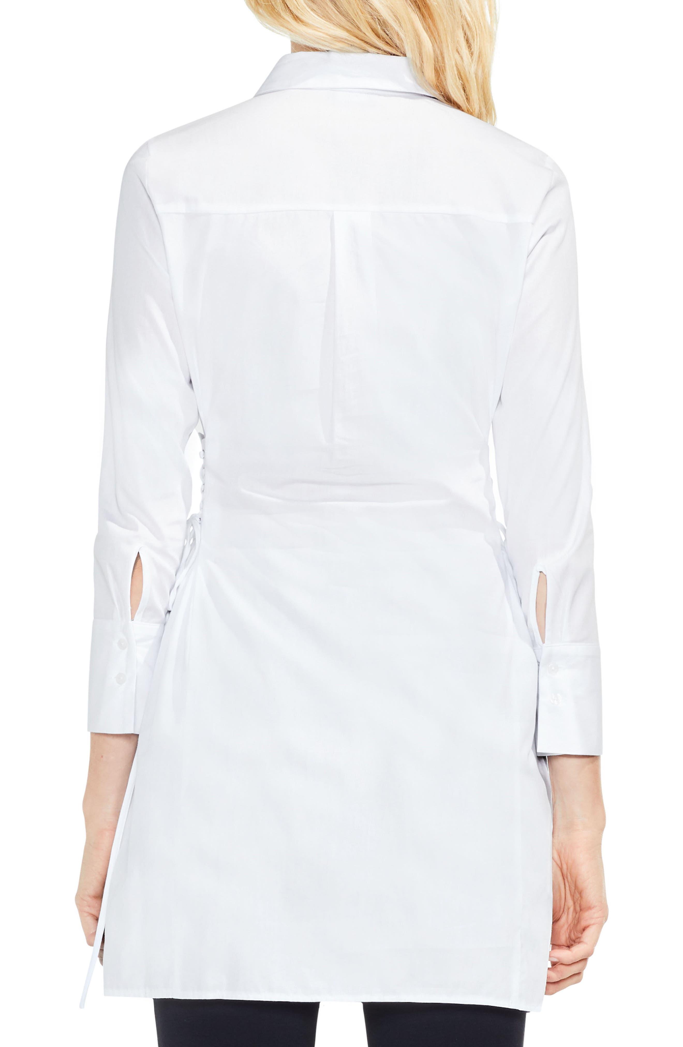 Alternate Image 2  - Vince Camuto Side Lace-Up Tunic Shirt