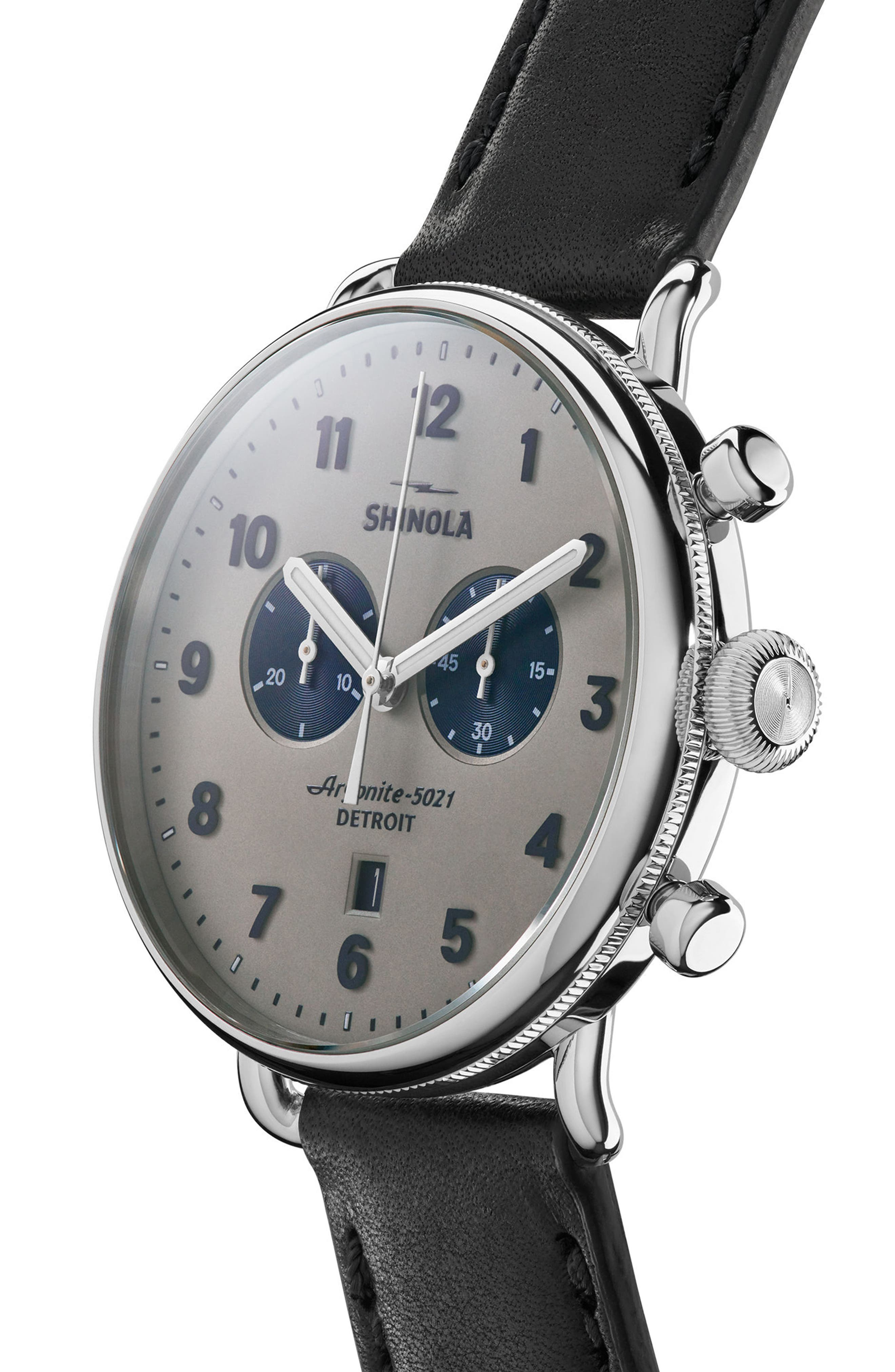 Alternate Image 4  - Shinola The Canfield Chrono Leather Strap Watch, 43mm