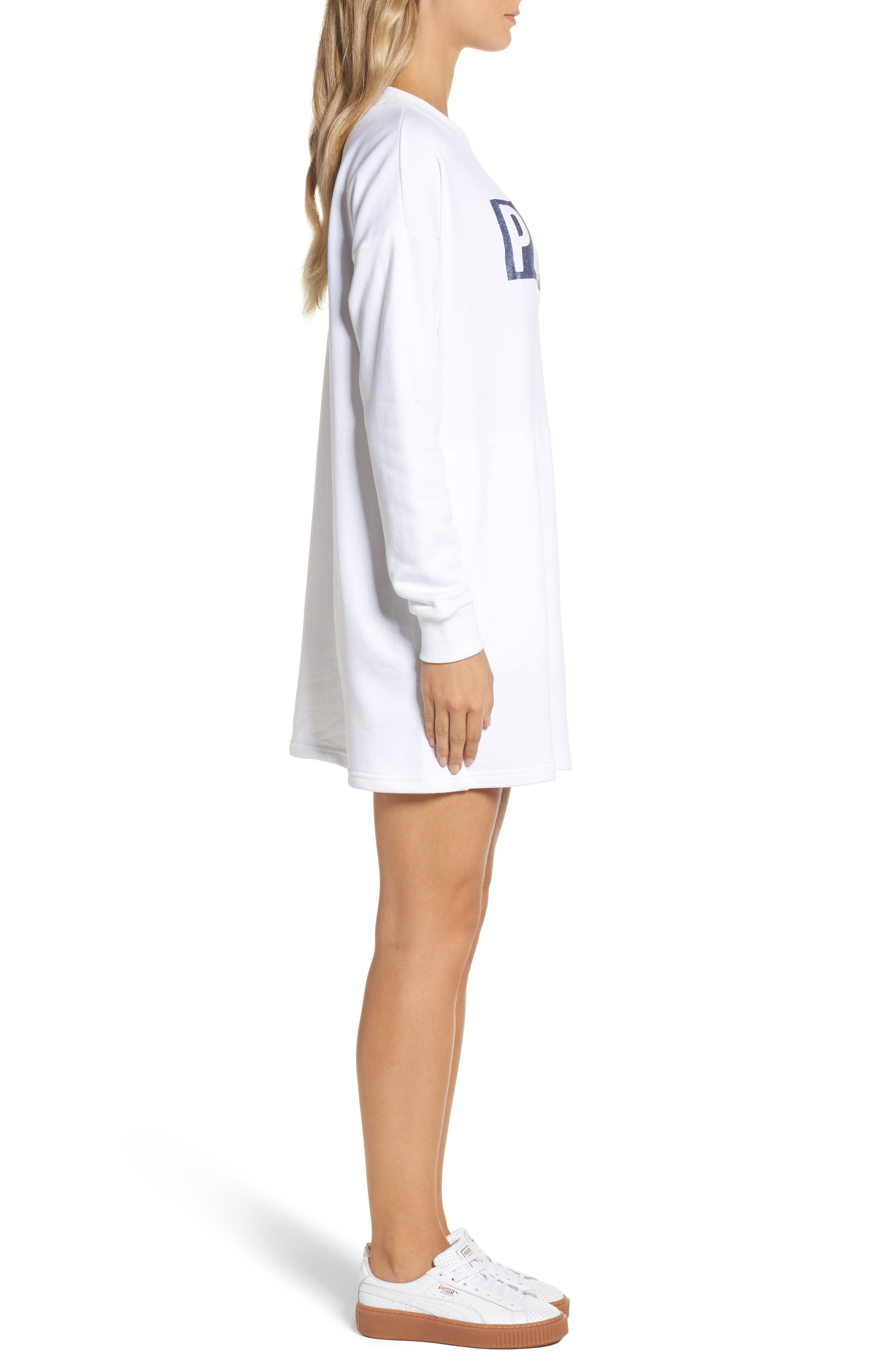 Alternate Image 3  - PUMA Fusion Sweatshirt Dress