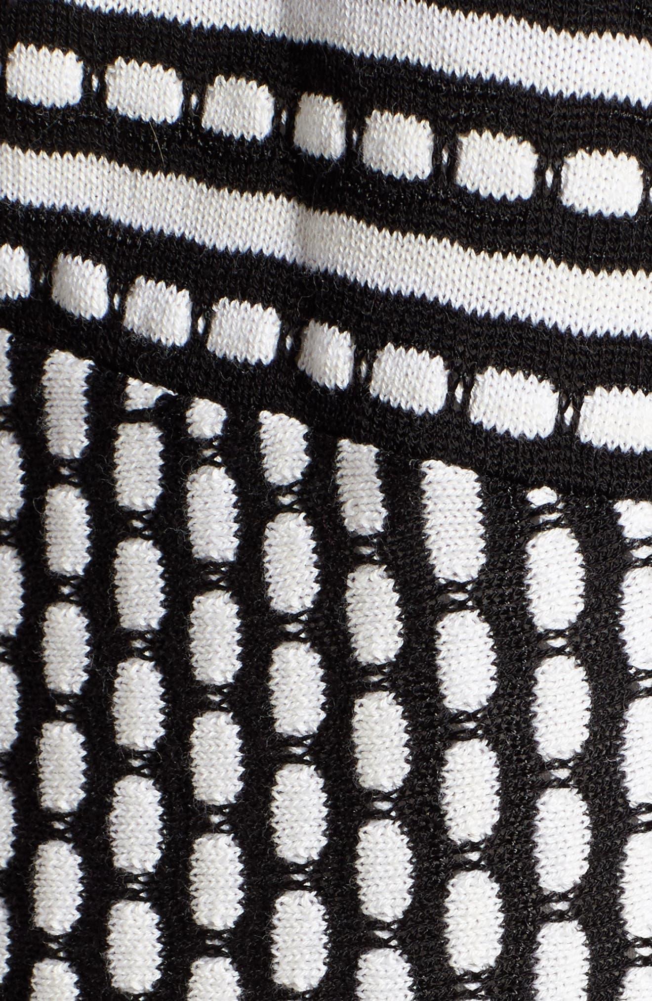Ground Breaking Cardigan,                             Alternate thumbnail 5, color,                             Black Multi