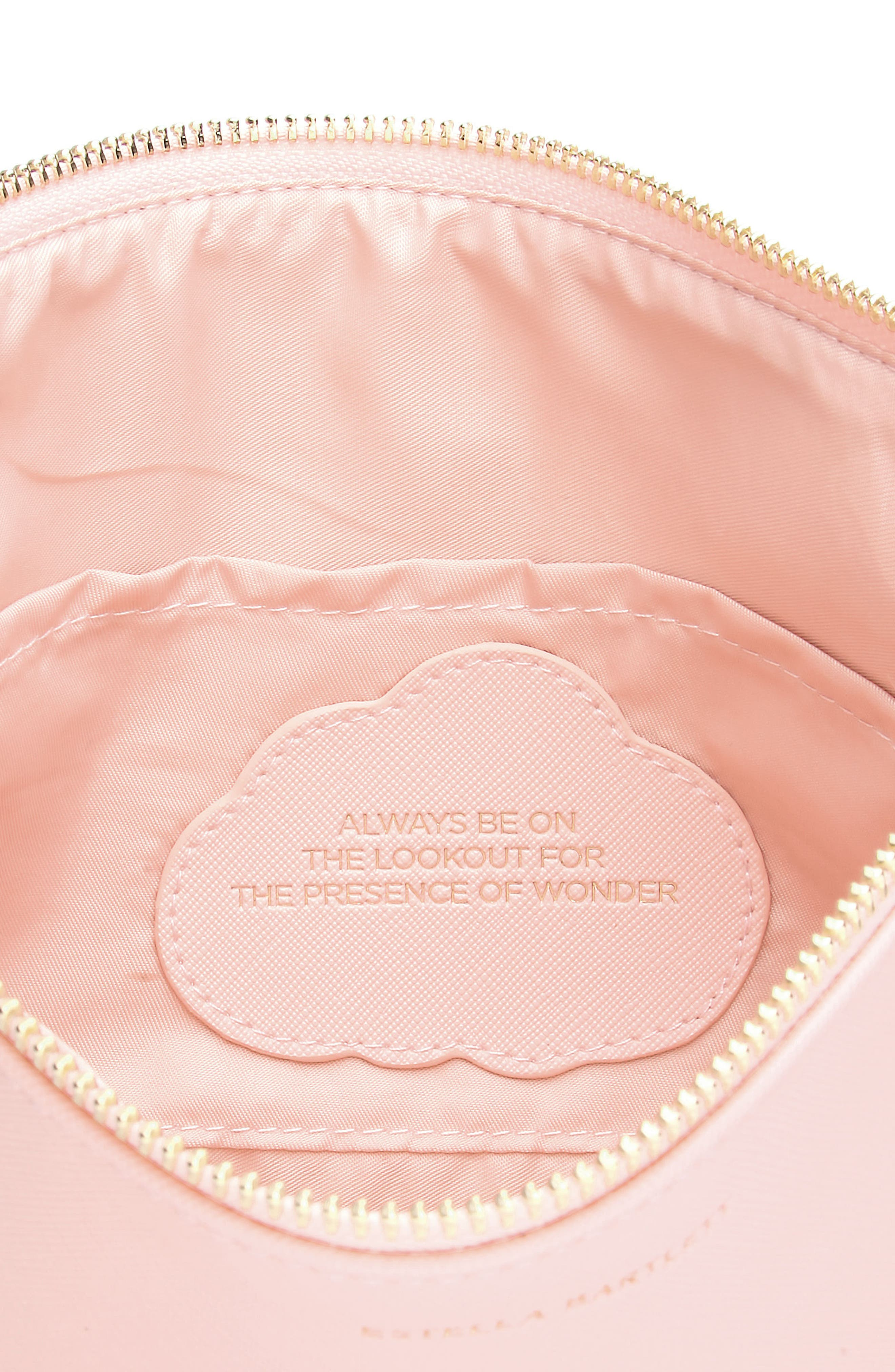 Always Be on the Lookout Faux Leather Pouch,                             Alternate thumbnail 2, color,                             Blush