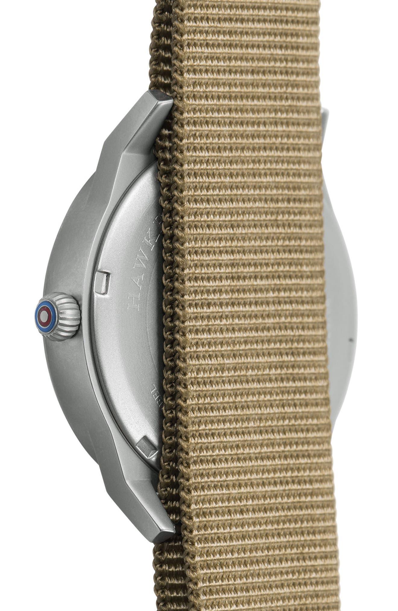Hawker Hurricane NATO Strap Watch, 38mm,                             Alternate thumbnail 3, color,                             Green/ Fatigue