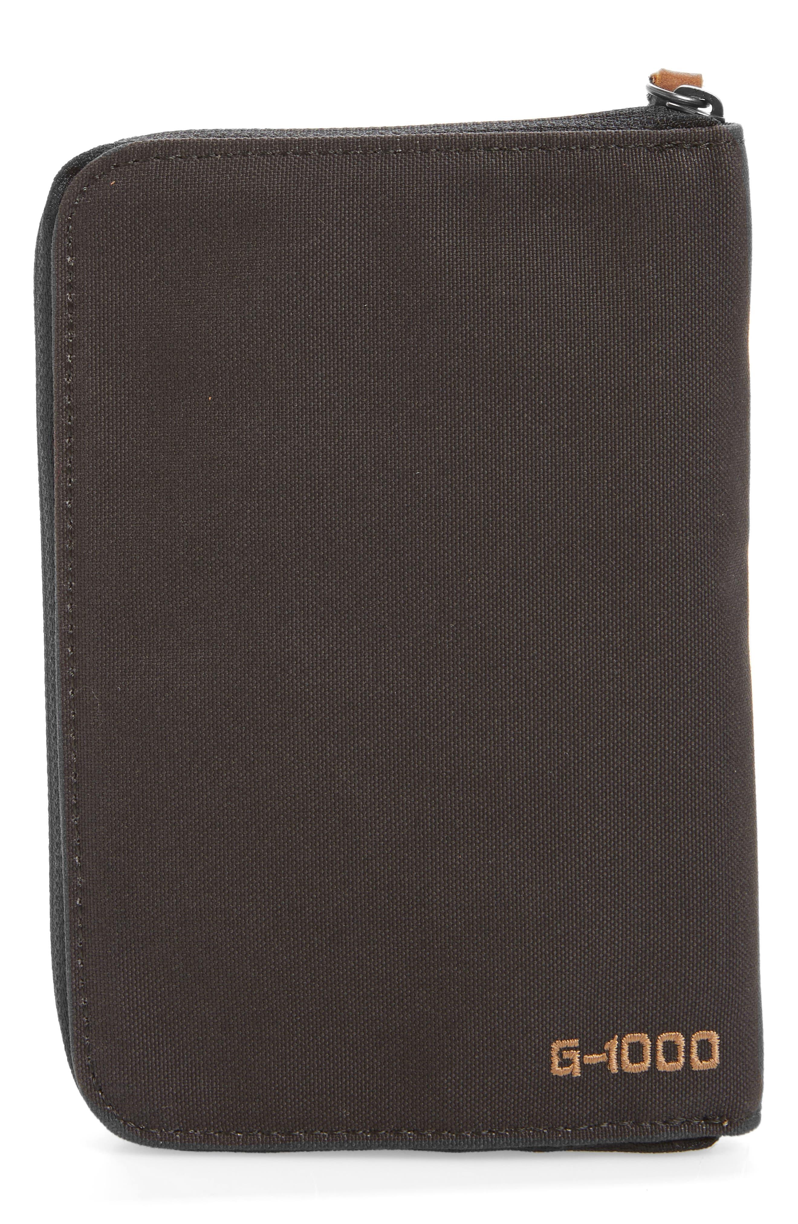 Canvas Passport Wallet,                             Alternate thumbnail 3, color,                             Dark Grey