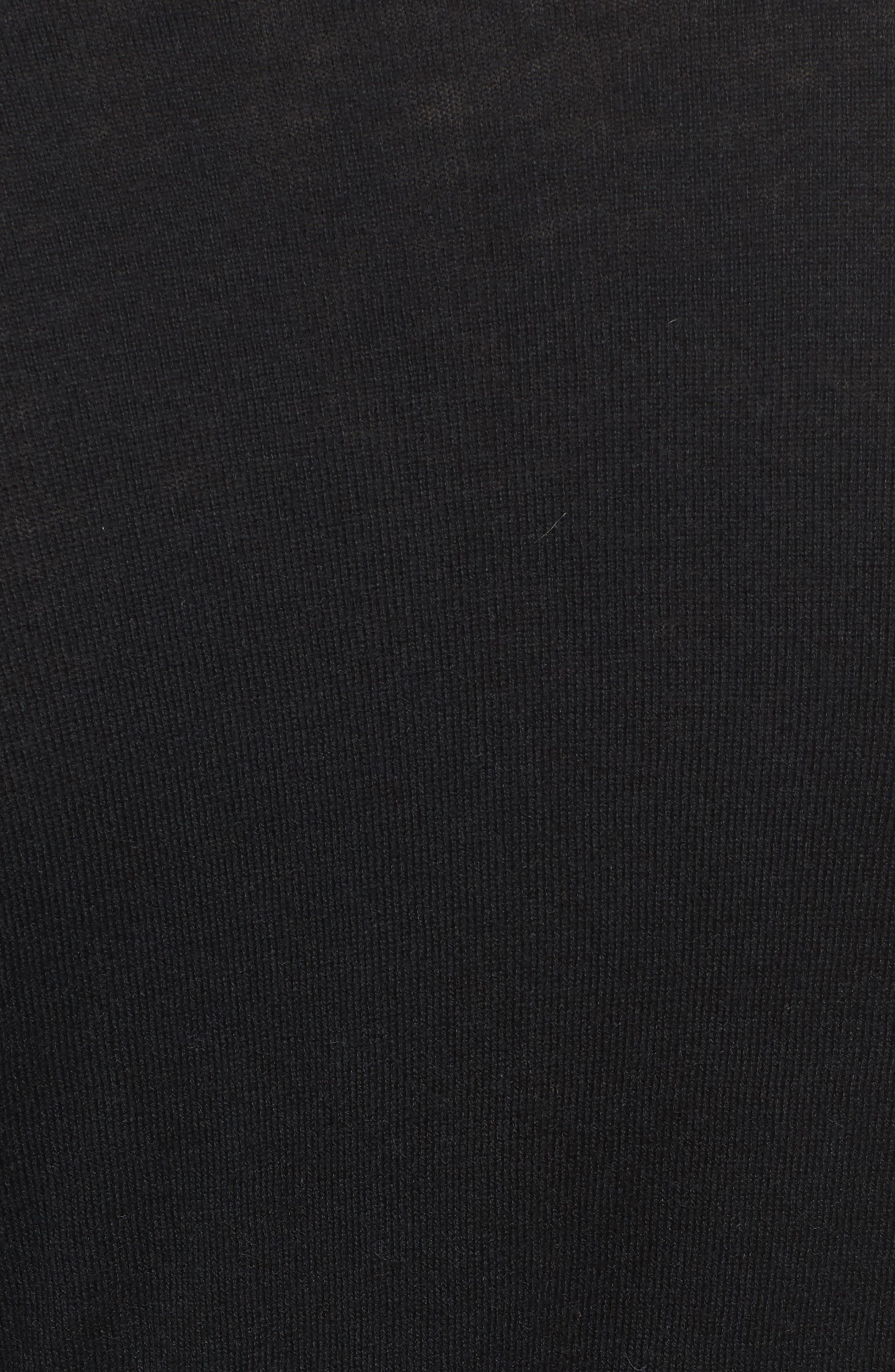 Ballet Wrap Sweater,                             Alternate thumbnail 5, color,                             Black