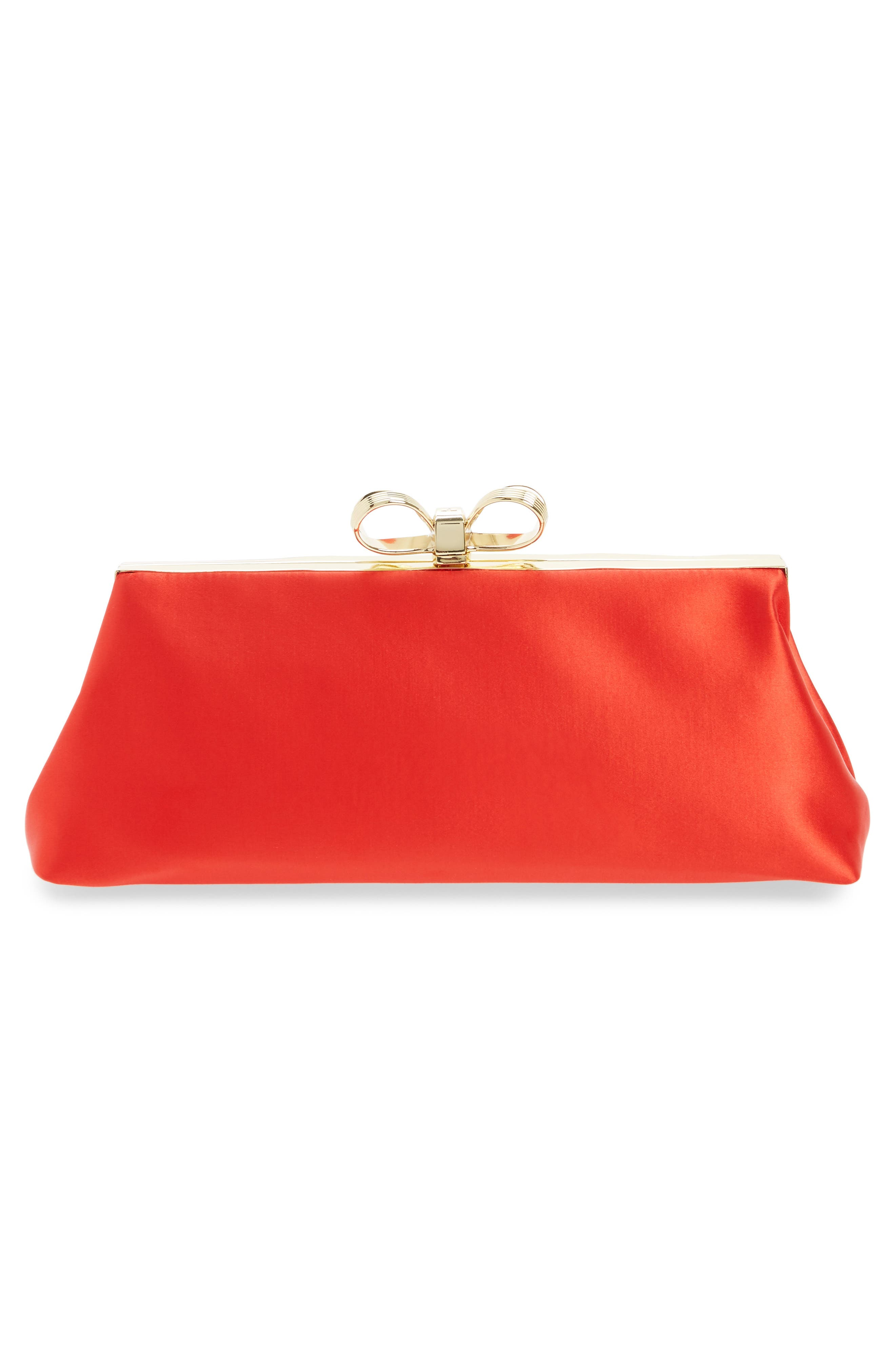 Alternate Image 4  - Ted Baker London Small Coletta Bow Satin Clutch
