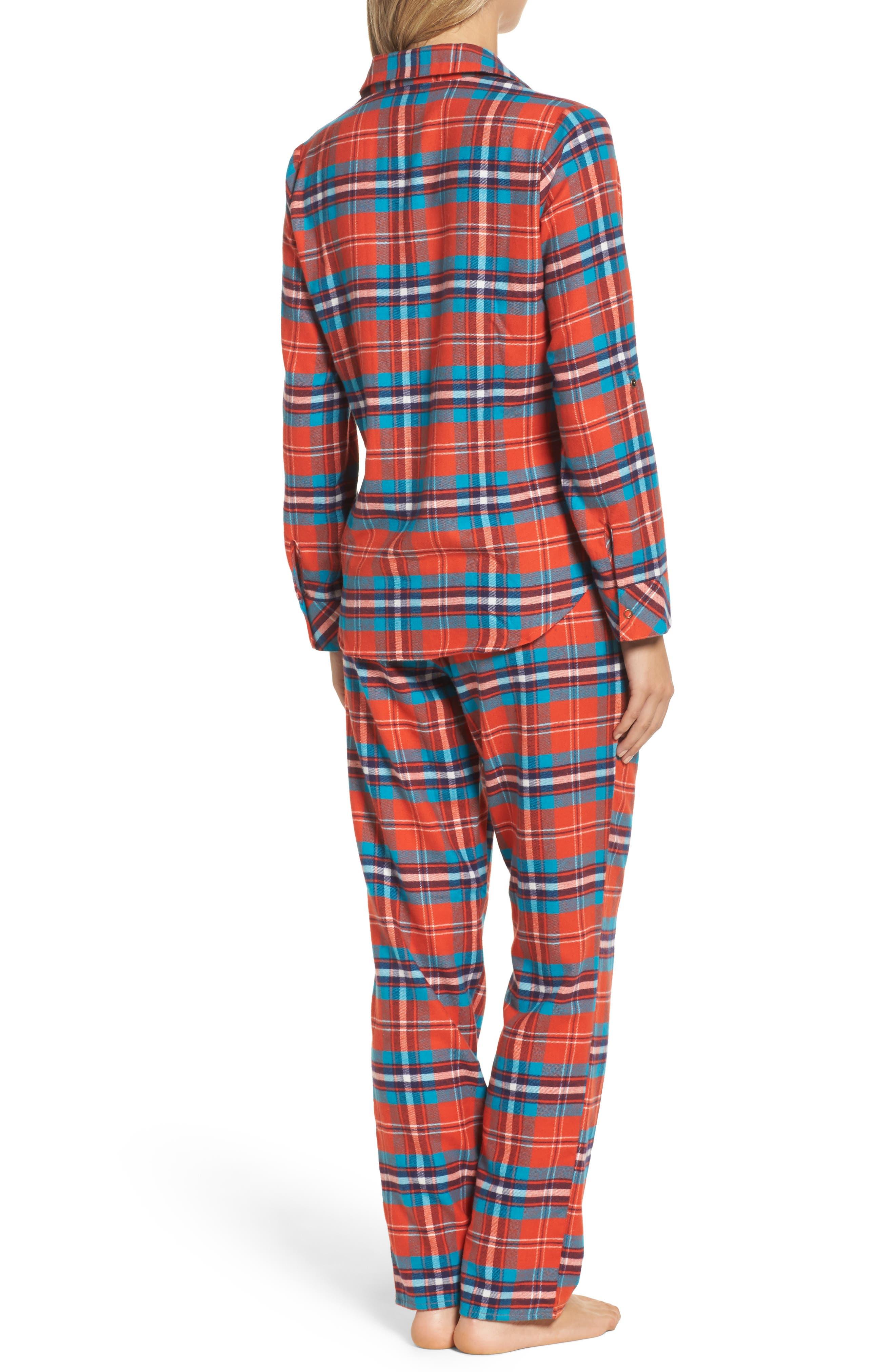 Alternate Image 2  - Make + Model Flannel Girlfriend Pajamas