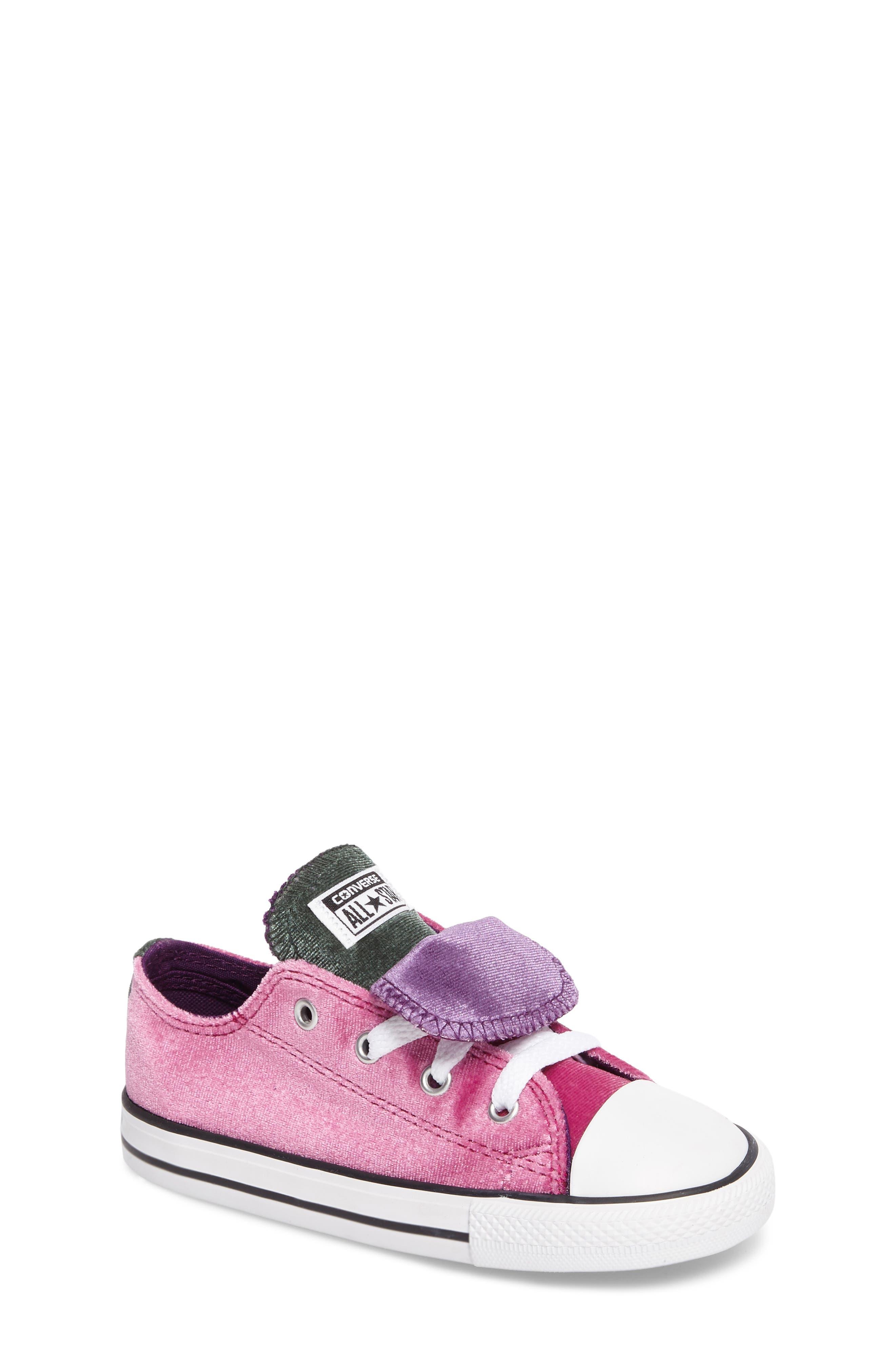 All Star<sup>®</sup> Velvet Double Tongue Sneaker,                             Main thumbnail 1, color,                             Pink Sapphire Velvet