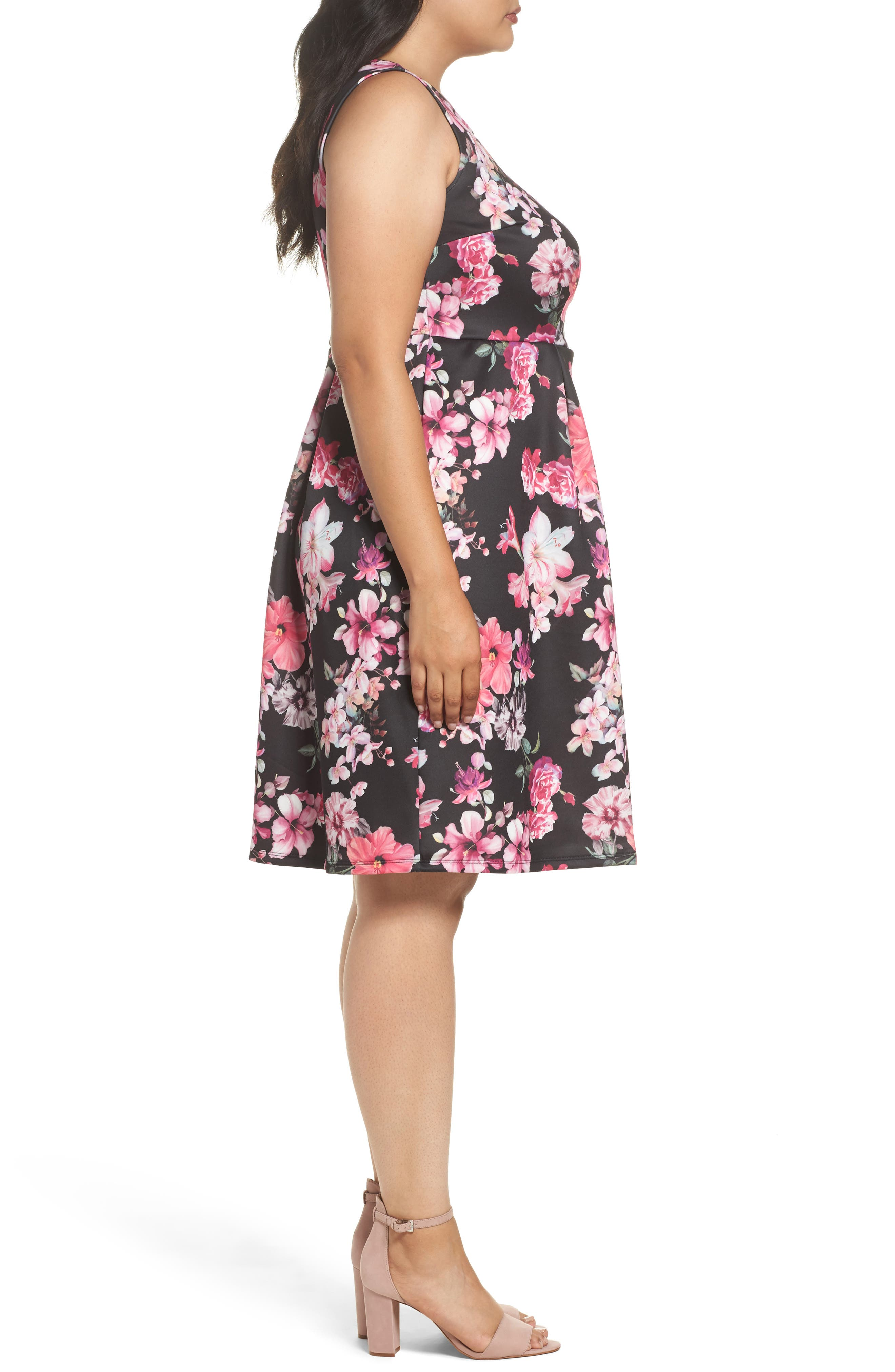 Alternate Image 3  - Dorothy Perkins Floral Print Sleeveless Dress (Plus Size)