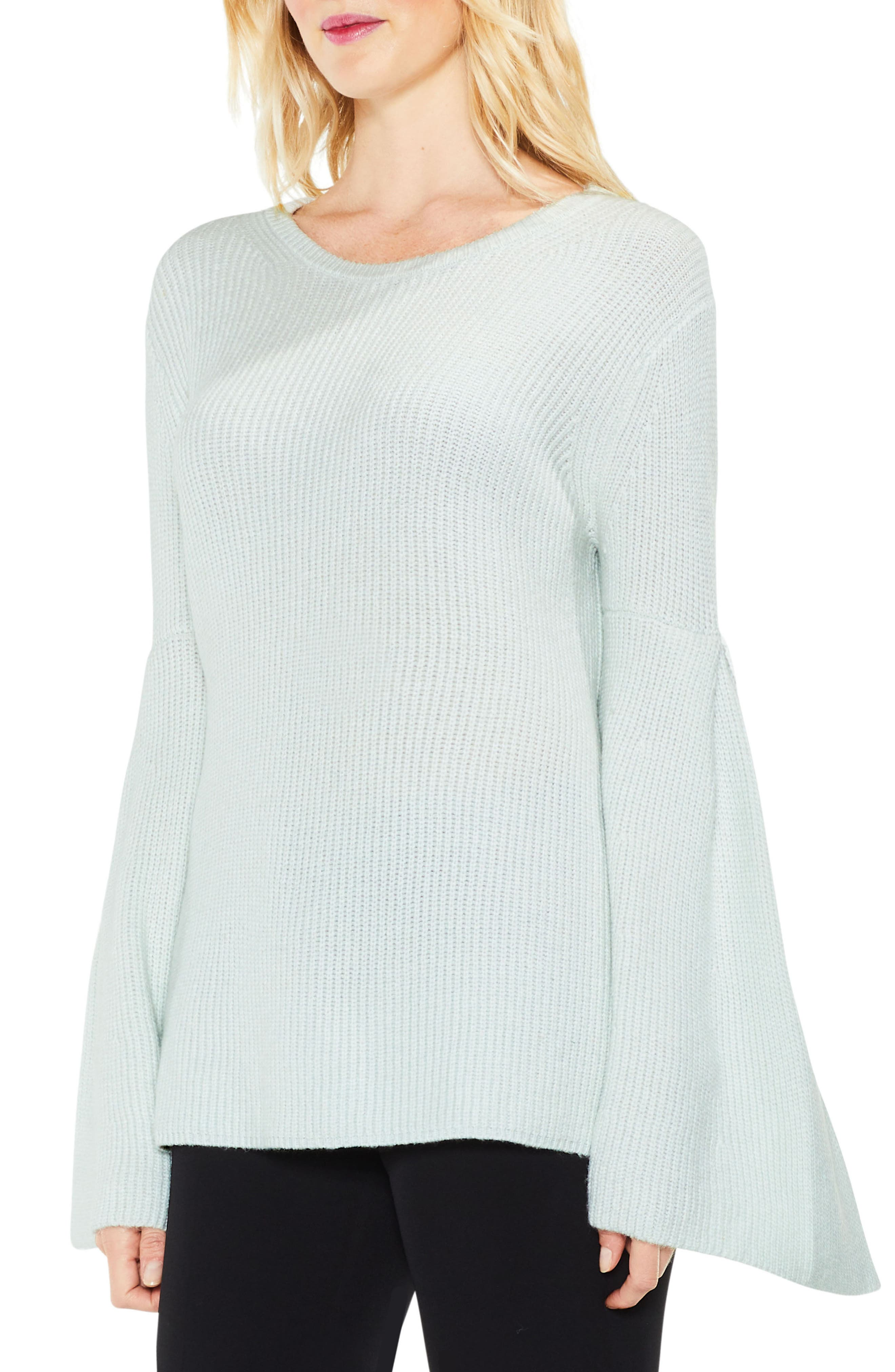 Vince Camuto All Over Rib Bell Sleeve Sweater (Regular & Petite)