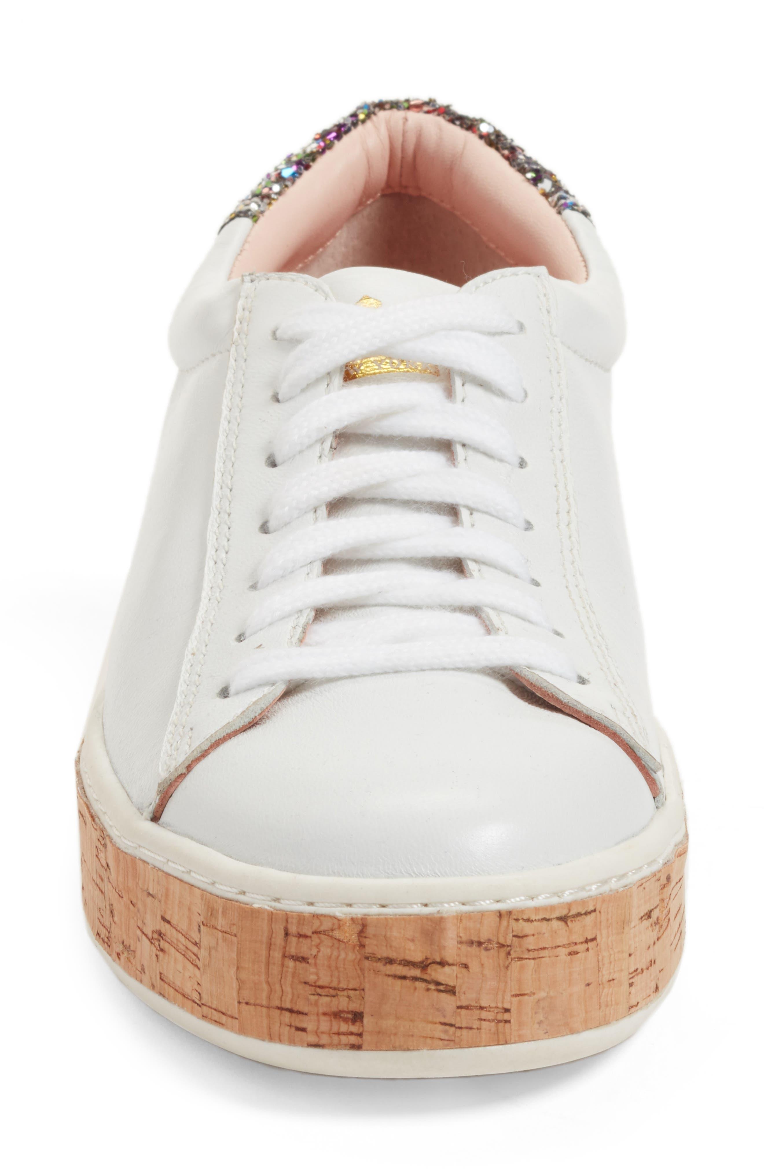 amy sneaker,                             Alternate thumbnail 5, color,                             White