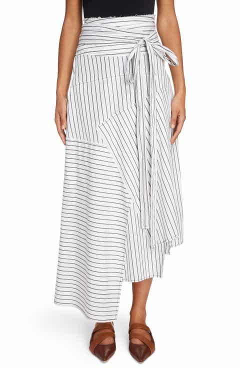 J.W.ANDERSON Patchwork Pinstripe Wrap Skirt On sale