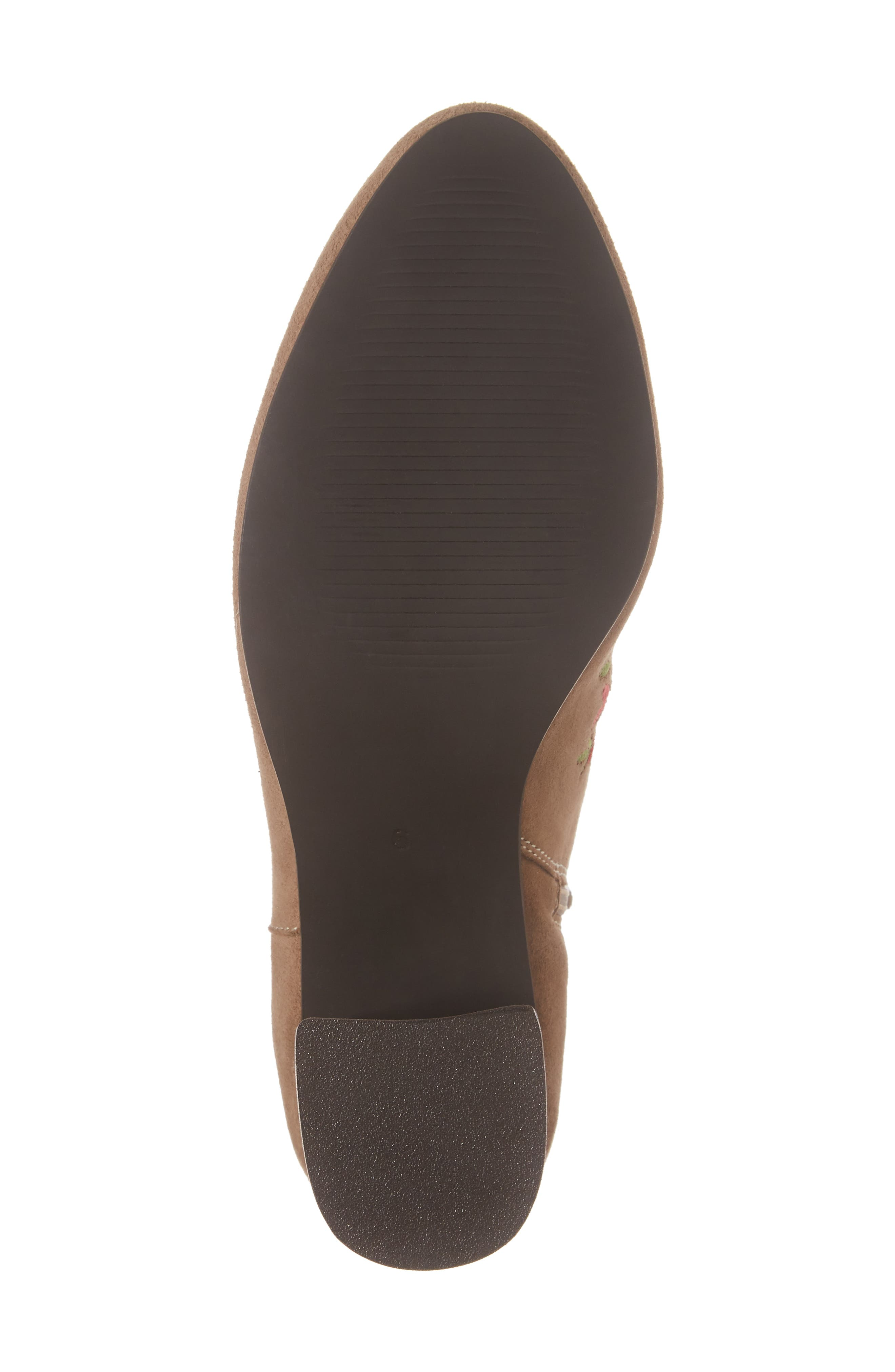 Veronaa Embroidered Bootie,                             Alternate thumbnail 6, color,                             Tan Suede