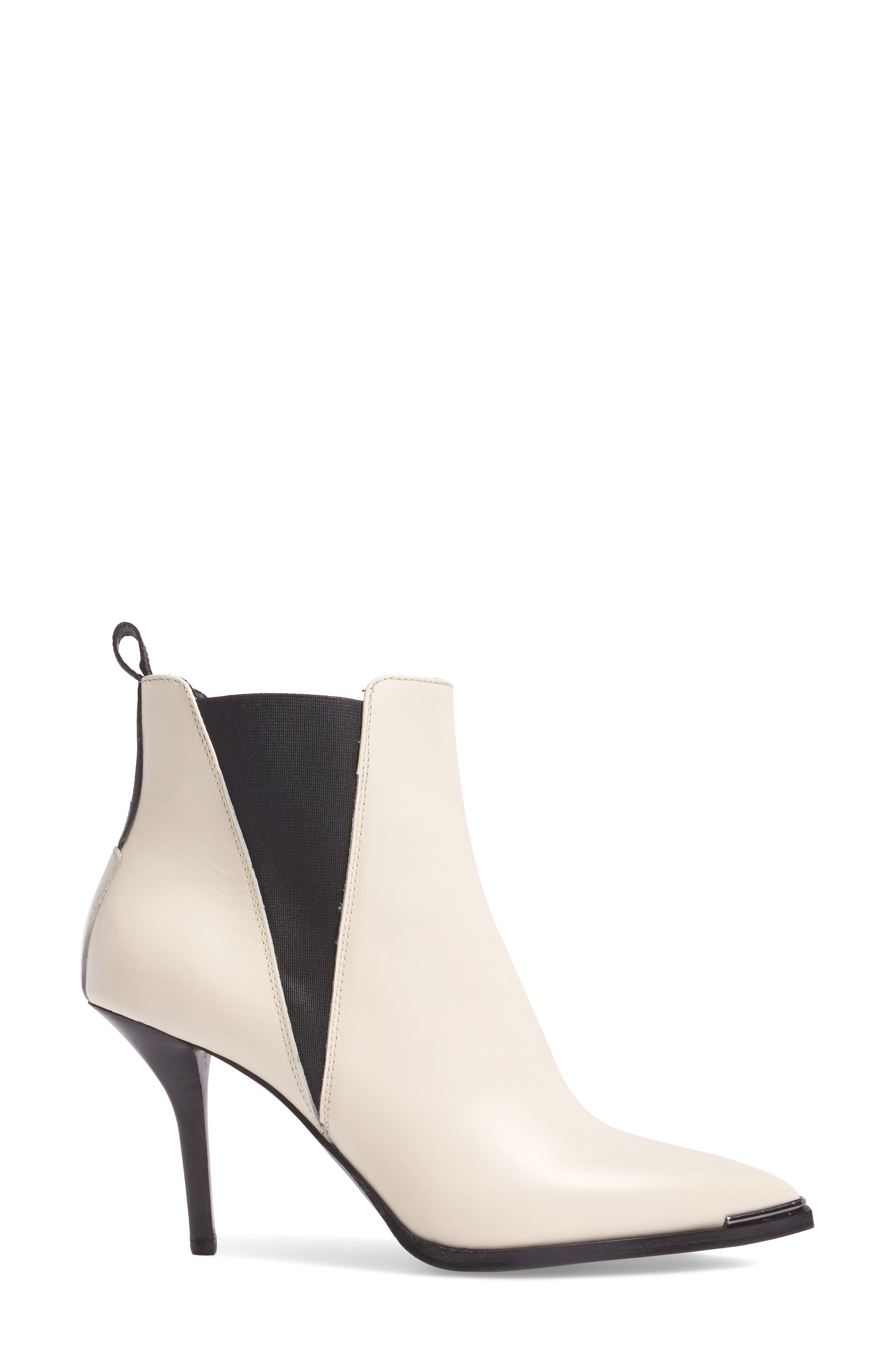 Jemma Pointy Toe Bootie,                             Alternate thumbnail 3, color,                             Off White