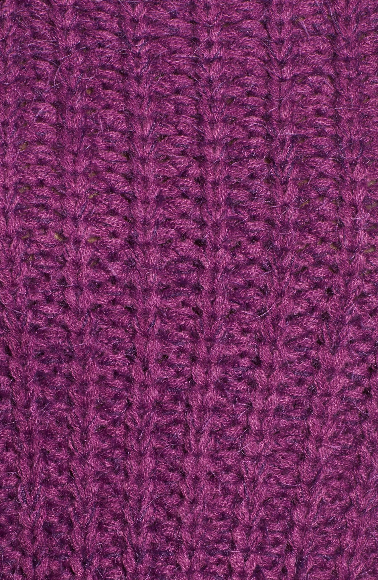 Bethany Crop Sweater,                             Alternate thumbnail 6, color,                             Purple