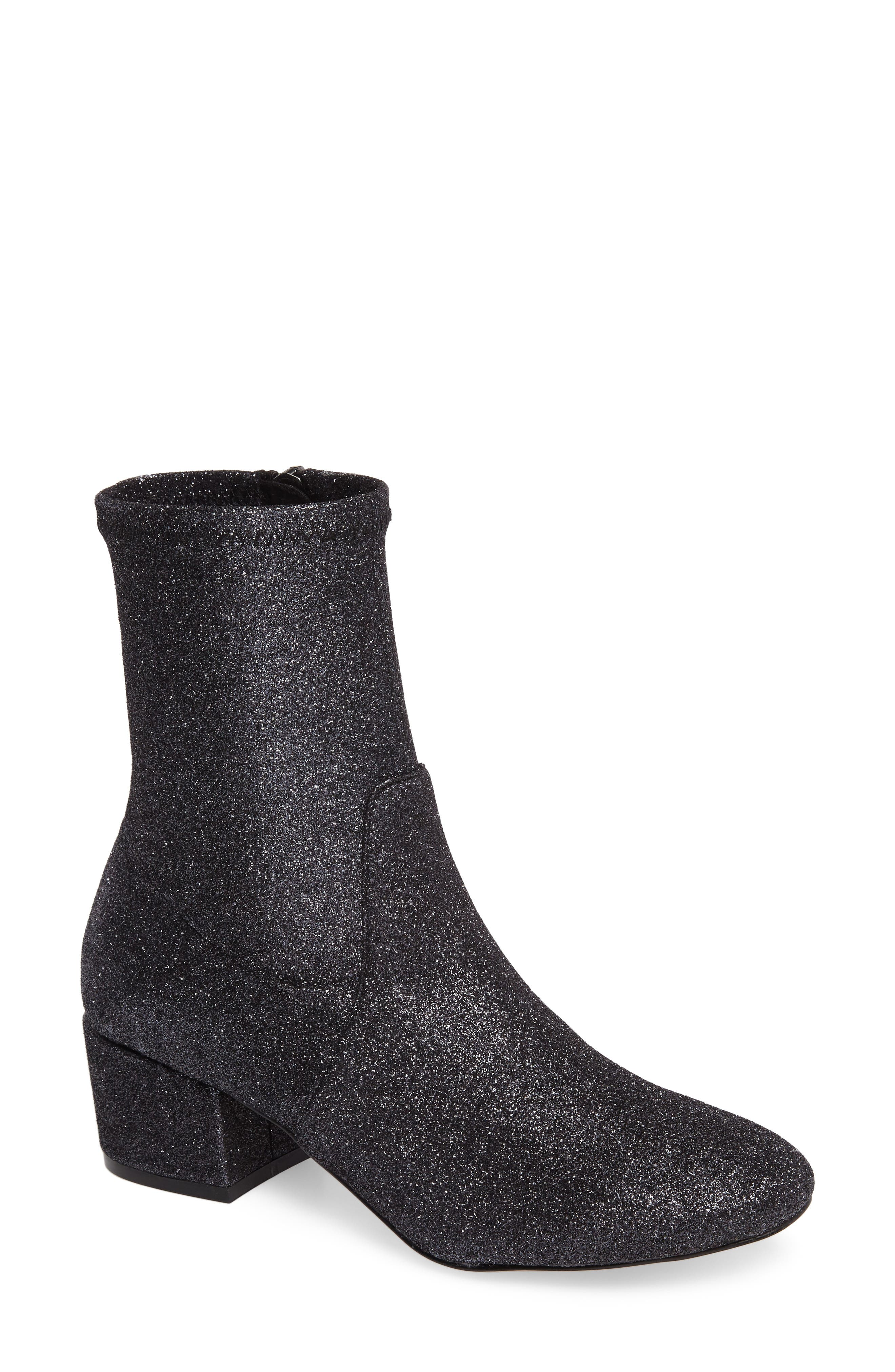 Gemma Bootie,                         Main,                         color, Gunmetal Glitter