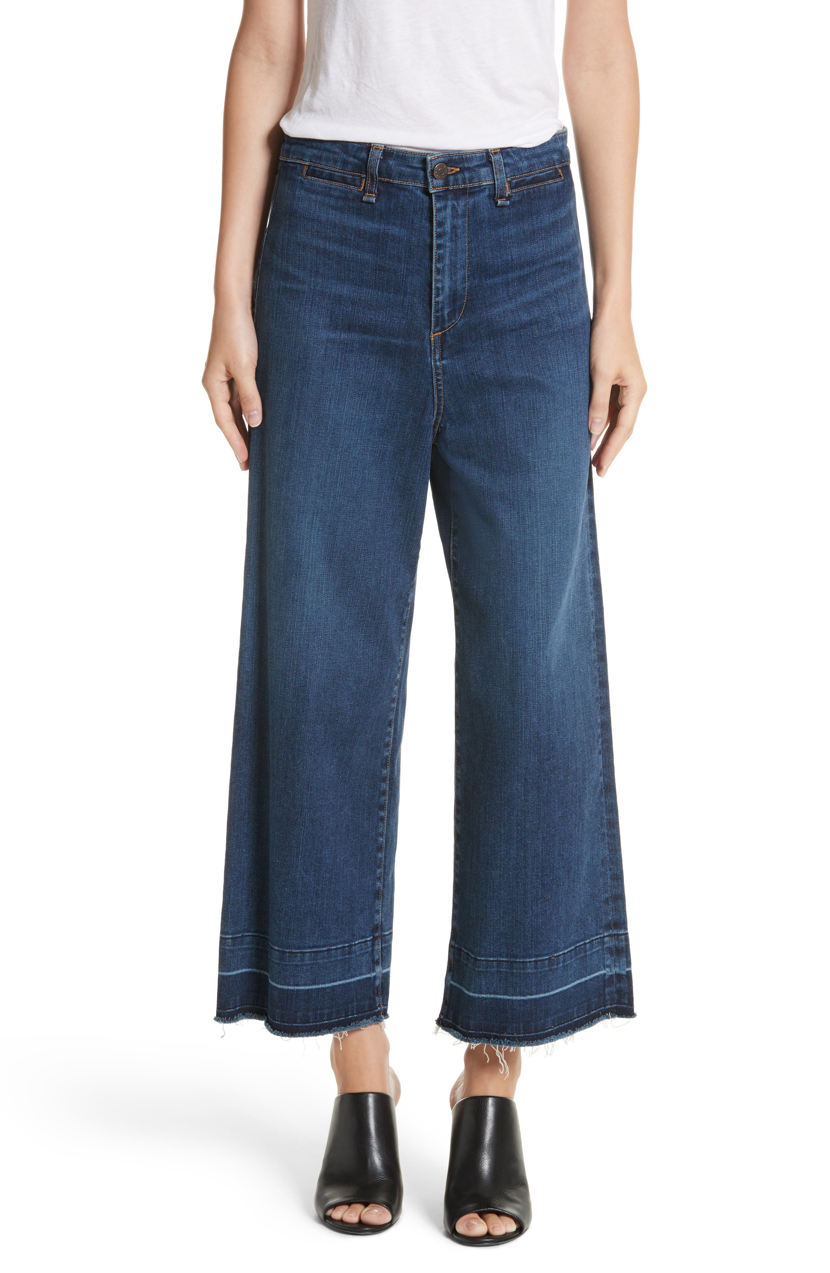 Veronica Beard Ali High Waist Gaucho Jeans