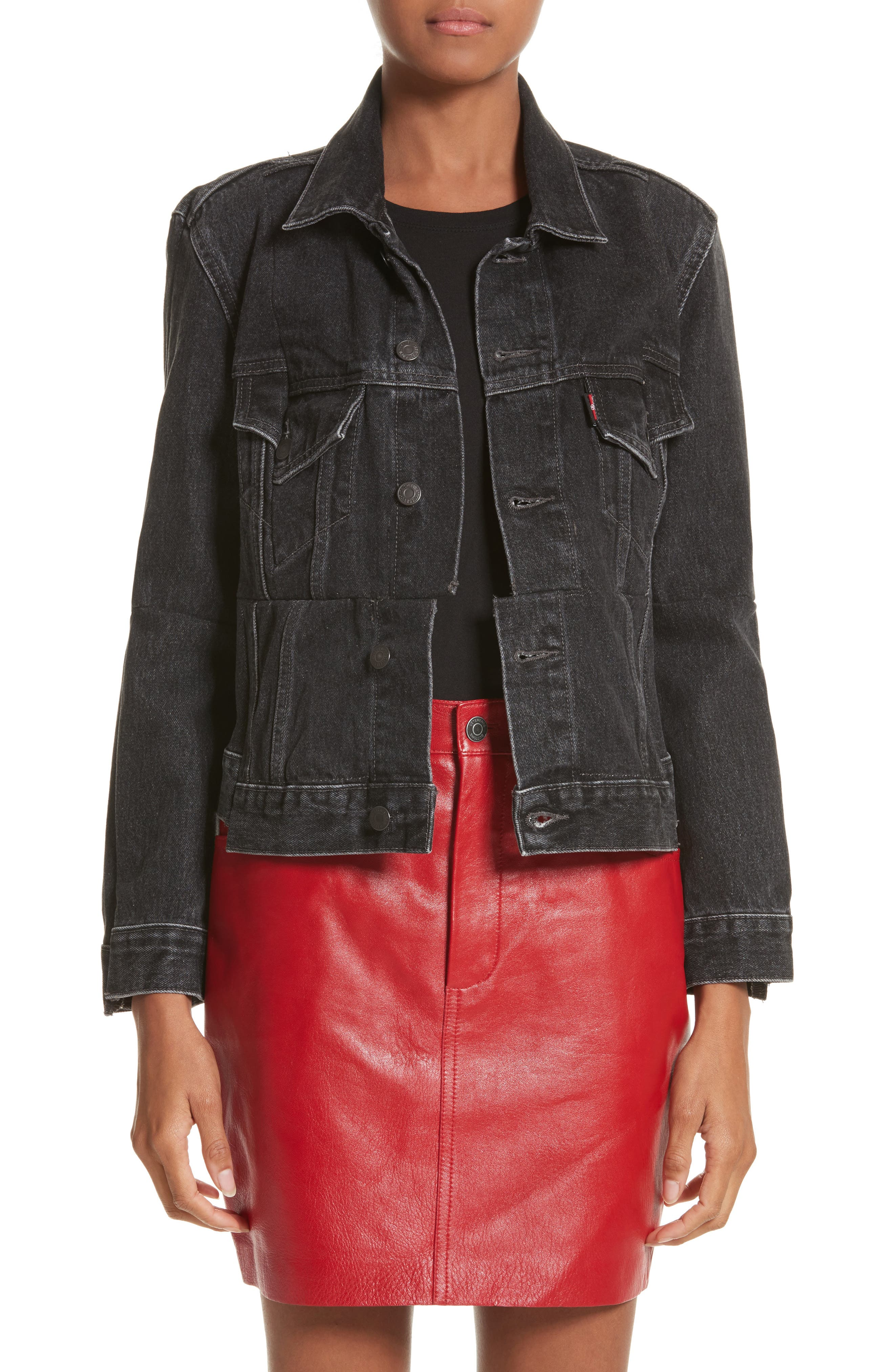 Alternate Image 1 Selected - Vetements Reworked Denim Jacket