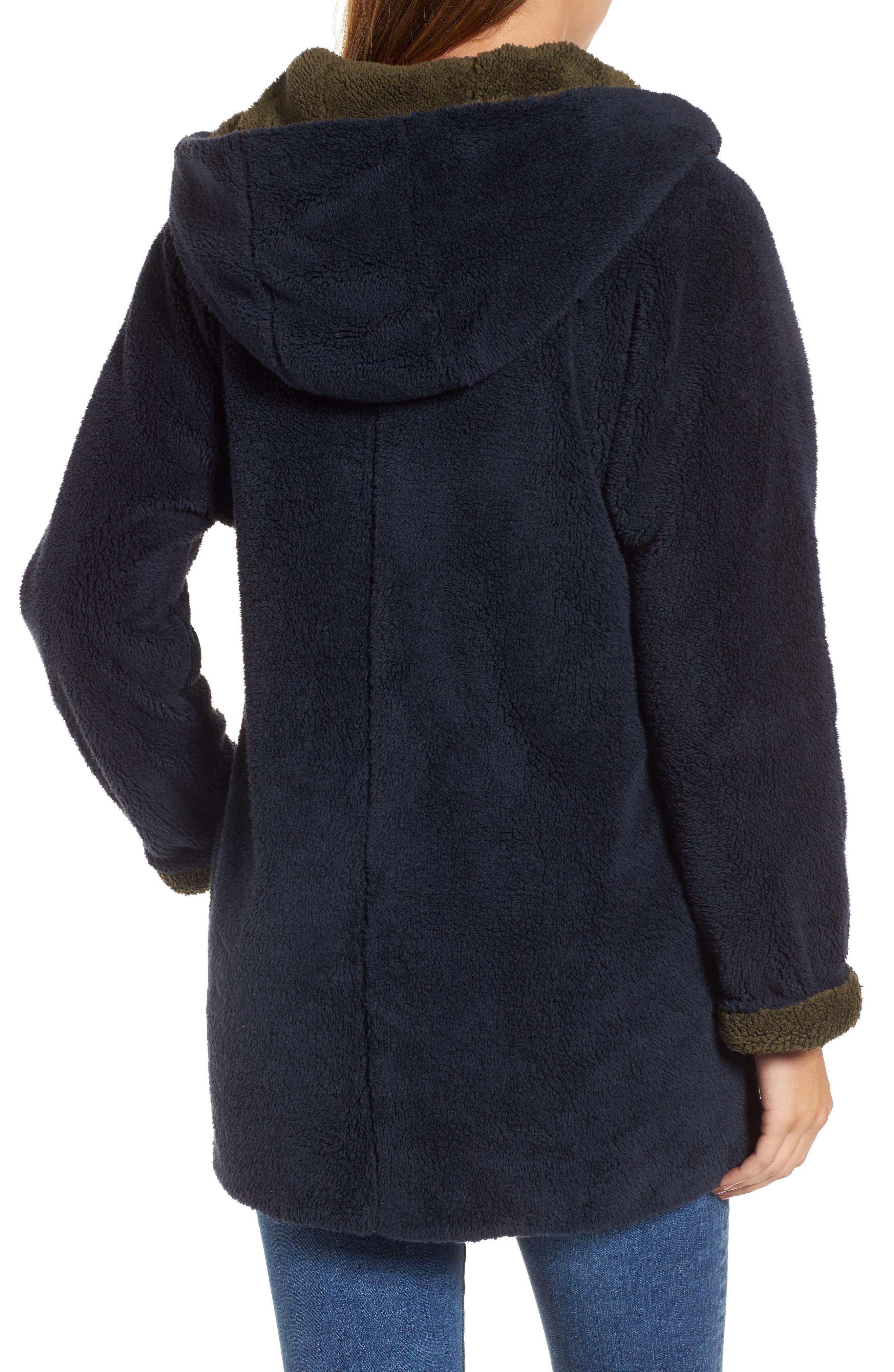 Hooded Reversible Coat,                             Alternate thumbnail 2, color,                             Navy/ Olive