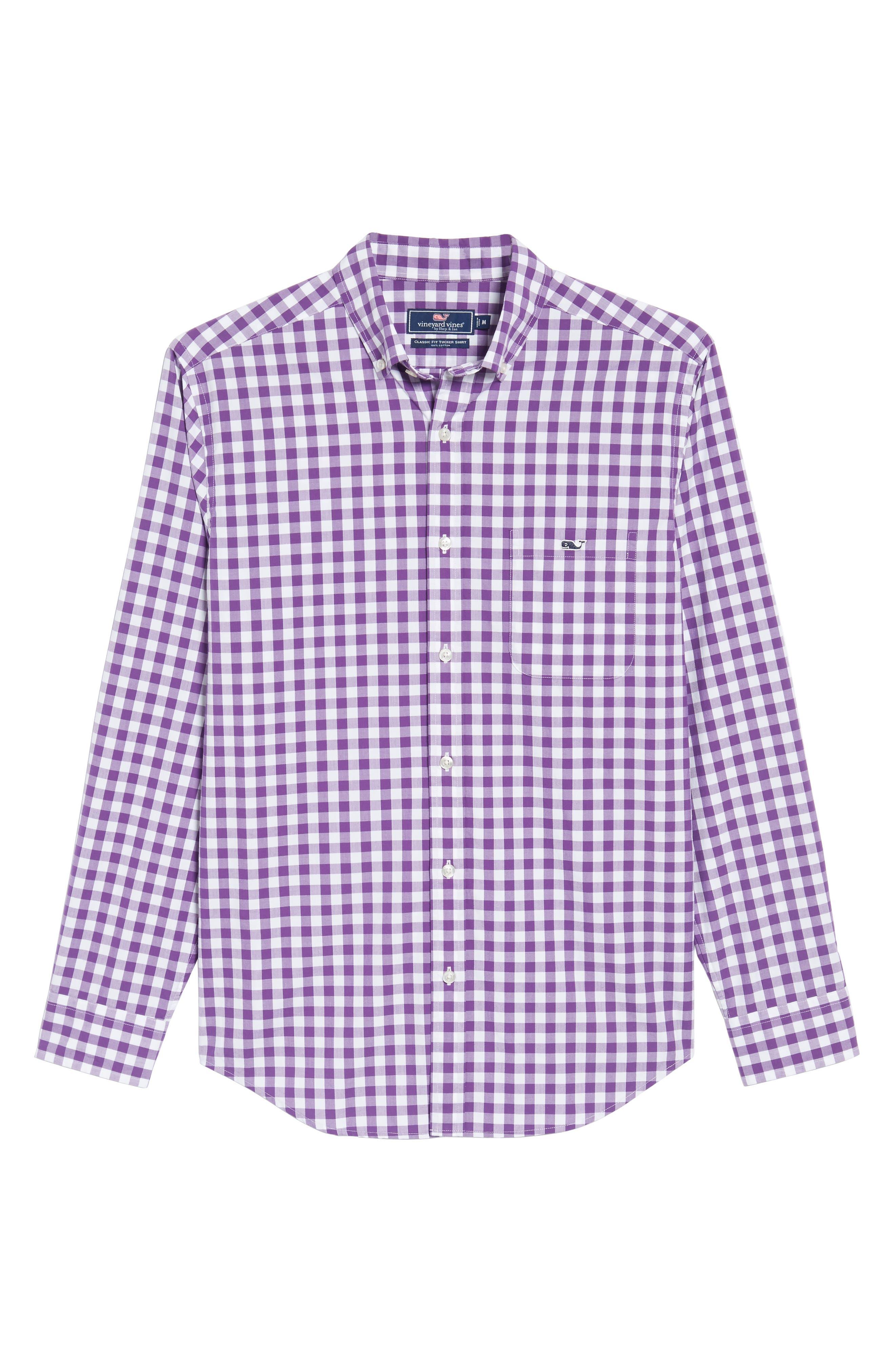 Alternate Image 6  - vineyard vines Classic Fit Tucker Garter Gingham Sport Shirt