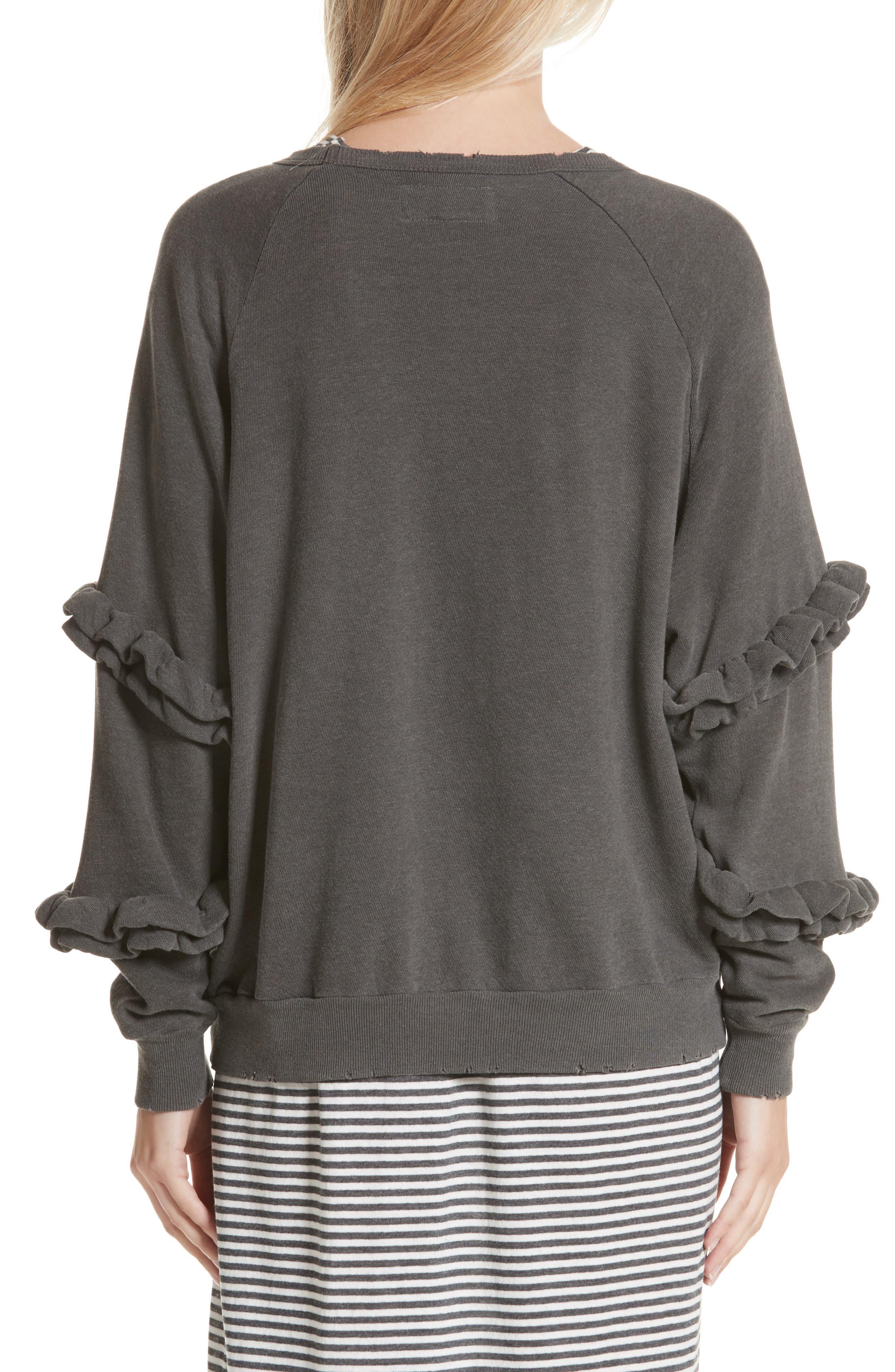 Alternate Image 3  - THE GREAT. The Frill Sleeve Sweatshirt
