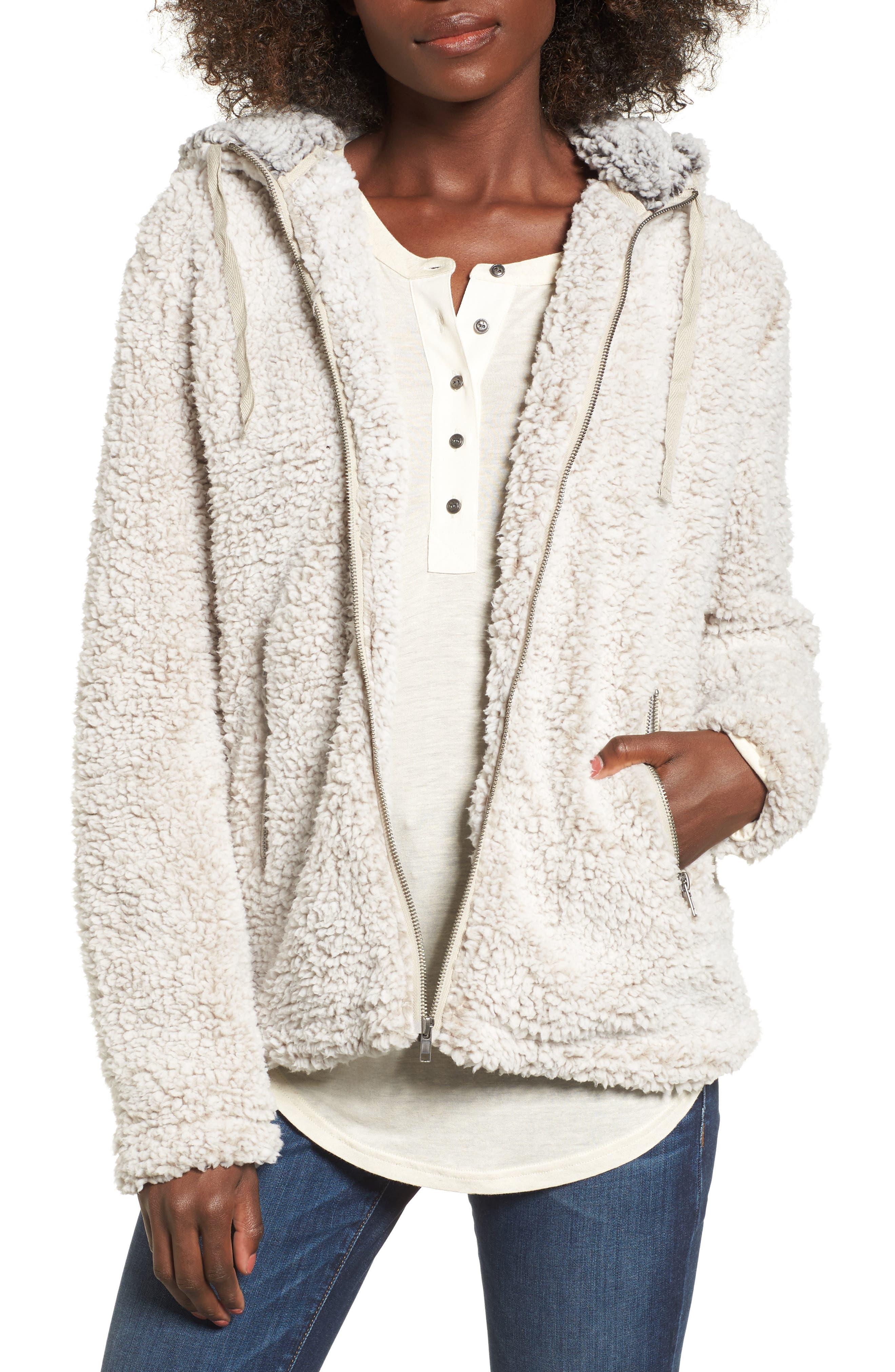 Brandon Fleece Jacket,                         Main,                         color, Ivory