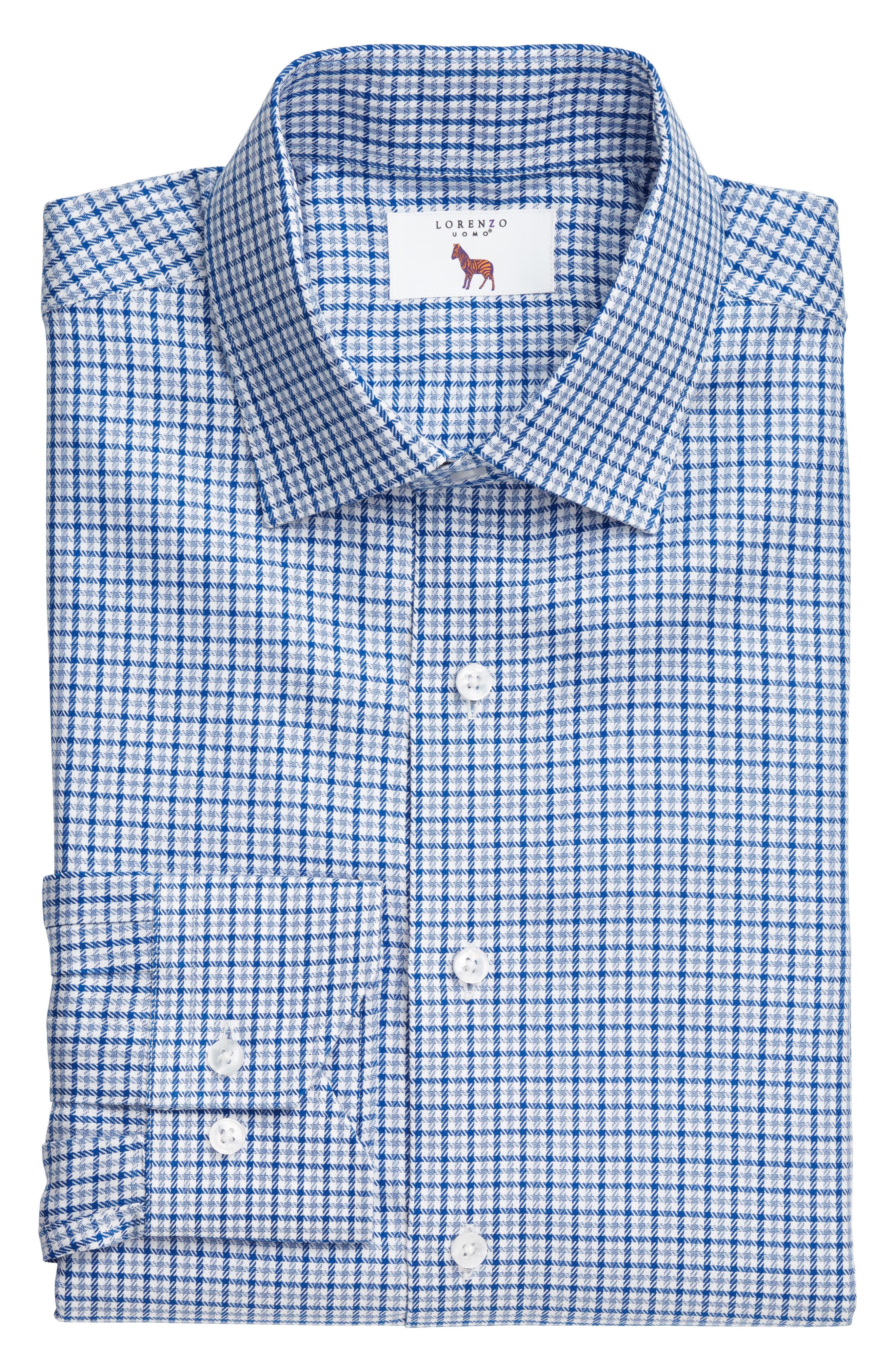 Main Image - Lorenzo Uomo Trim Fit Textured Check Dress Shirt