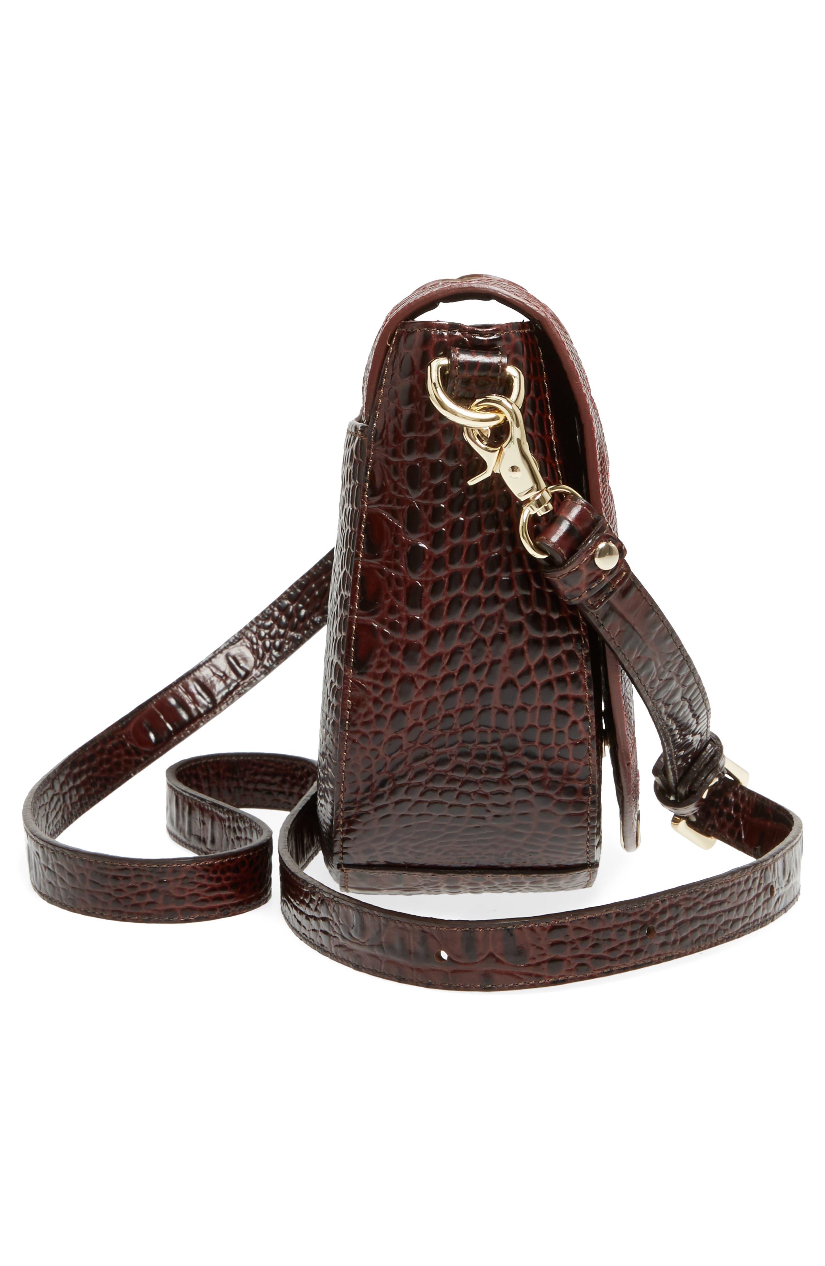 Verona Mini Sonny Leather Crossbody Bag,                             Alternate thumbnail 5, color,                             Red
