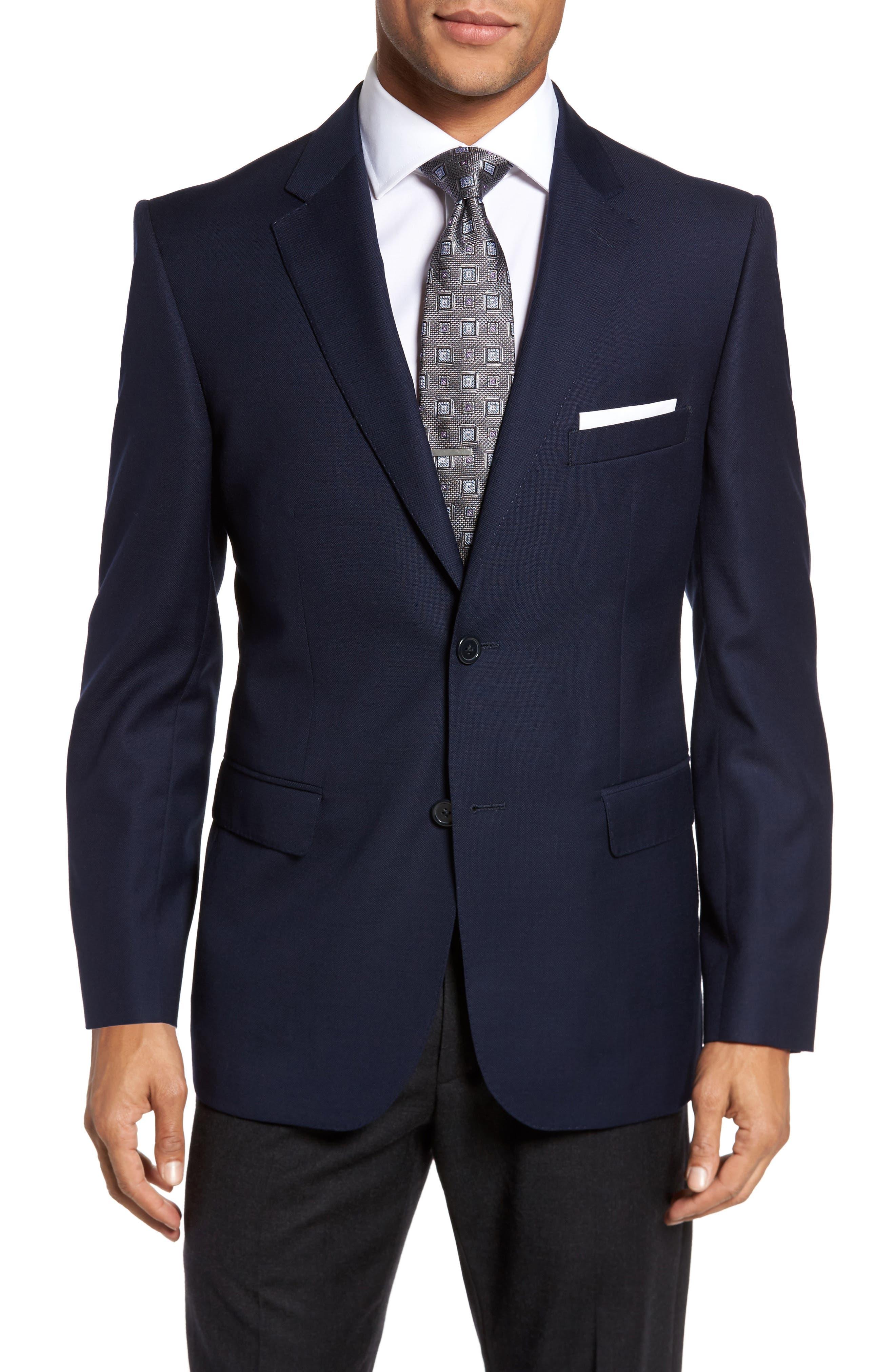 JB Britches Classic Fit Solid Wool Sport Coat