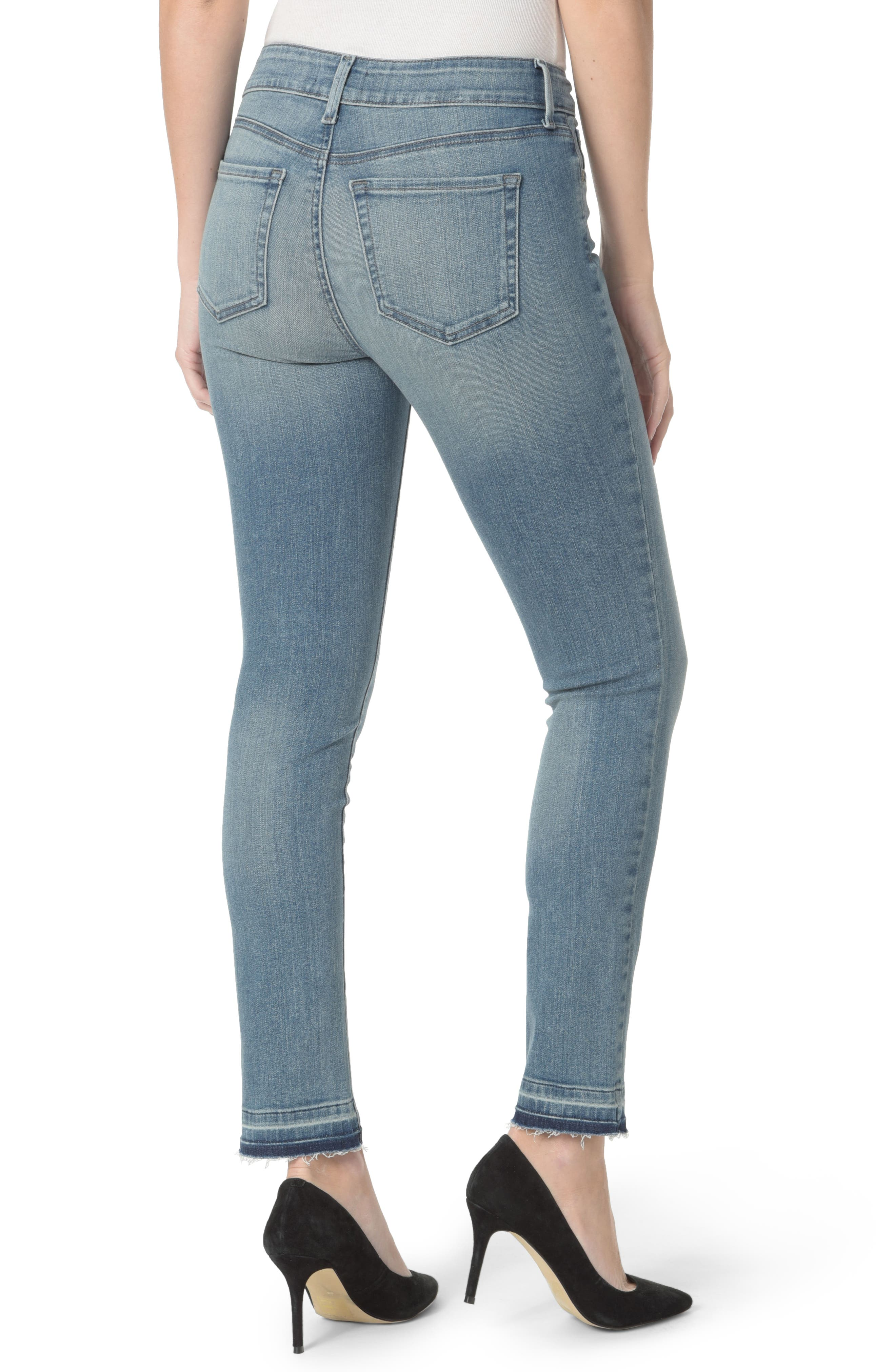 Sheri Release Hem Skinny Ankle Jeans,                             Alternate thumbnail 2, color,                             Pacific