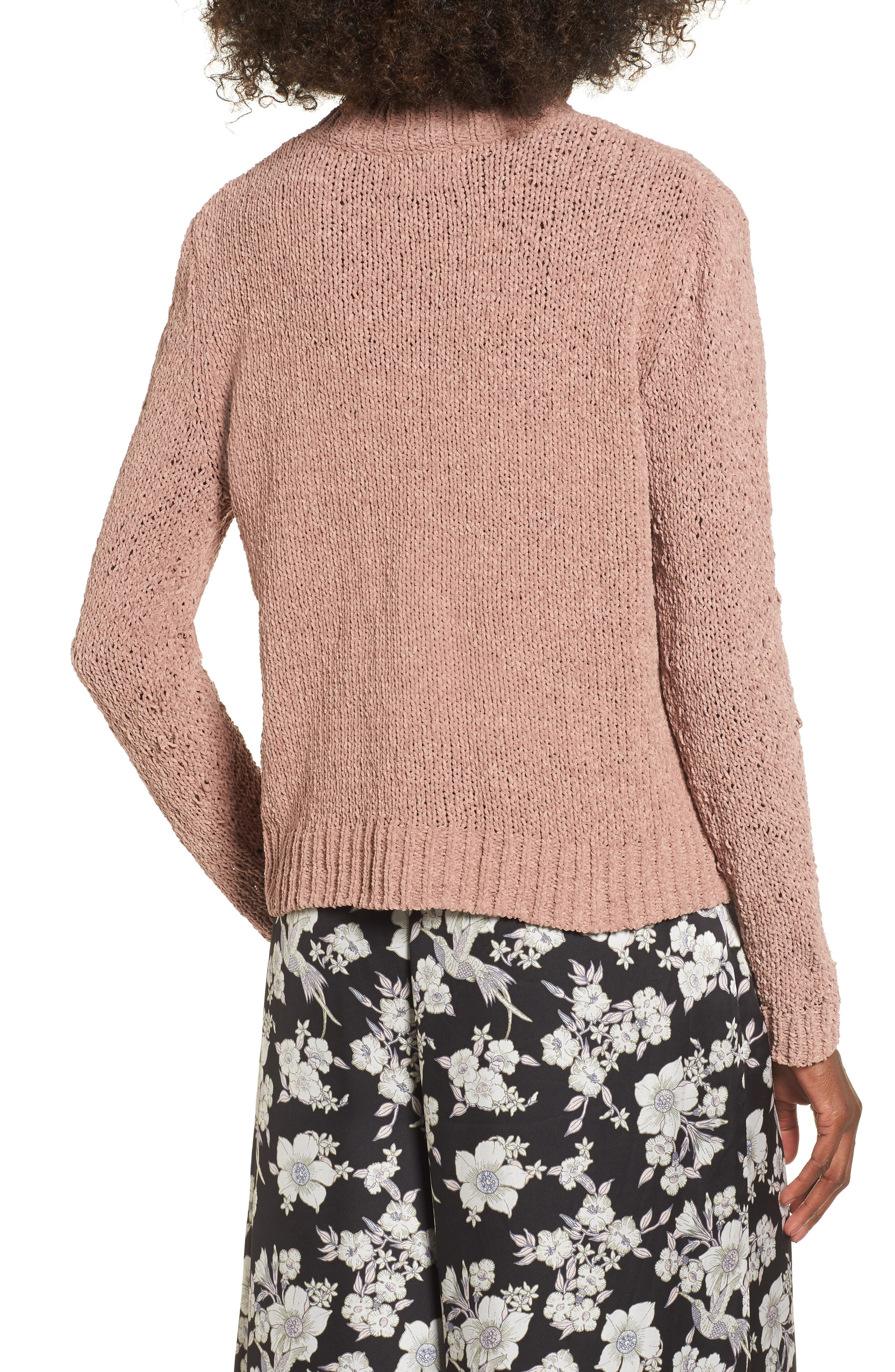 Jolie Chenille Sweater,                             Alternate thumbnail 2, color,                             Mauve