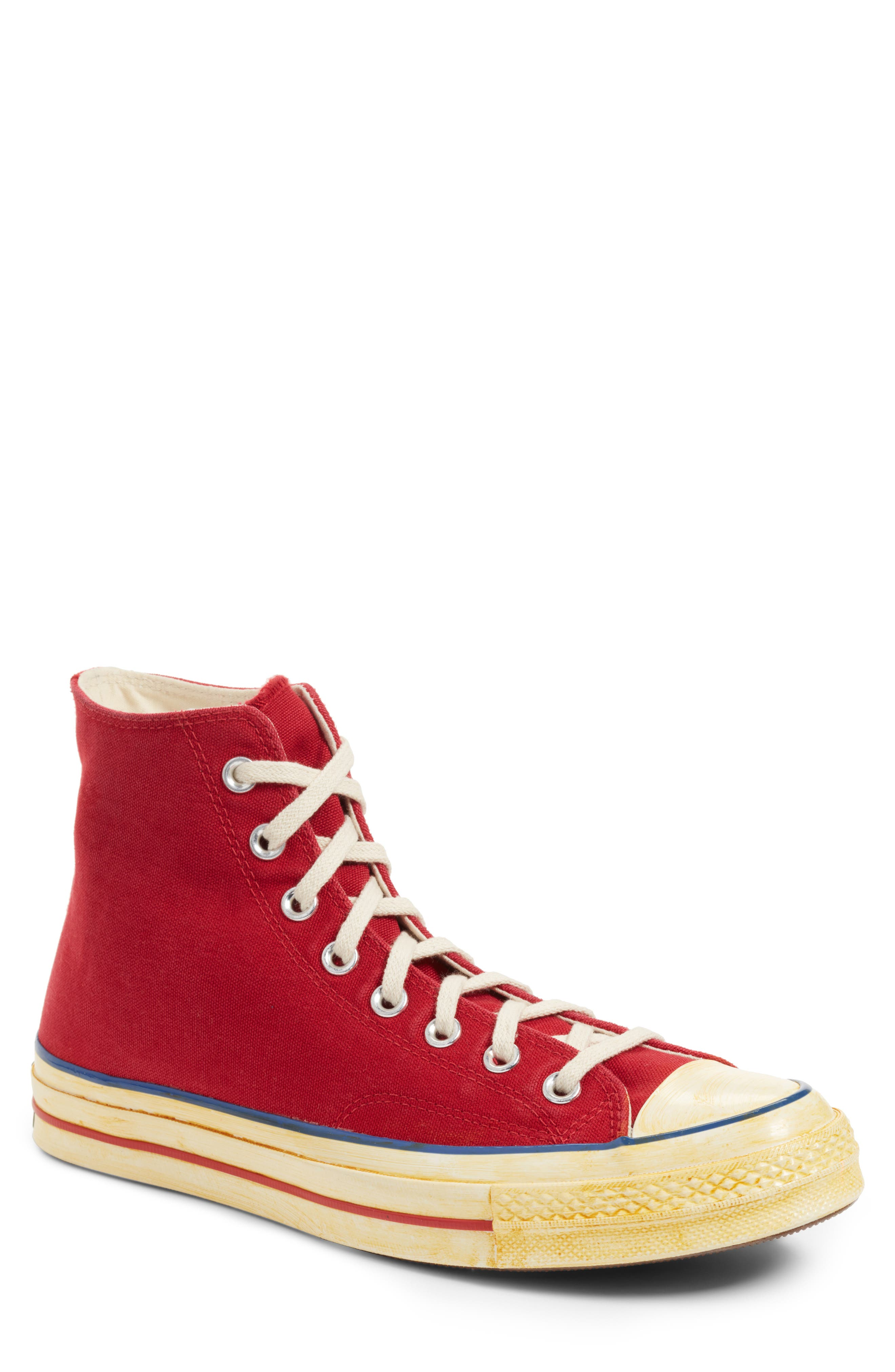 Chuck Taylor<sup>®</sup> All Star<sup>®</sup> 70 High Top Sneaker,                             Main thumbnail 1, color,                             Red