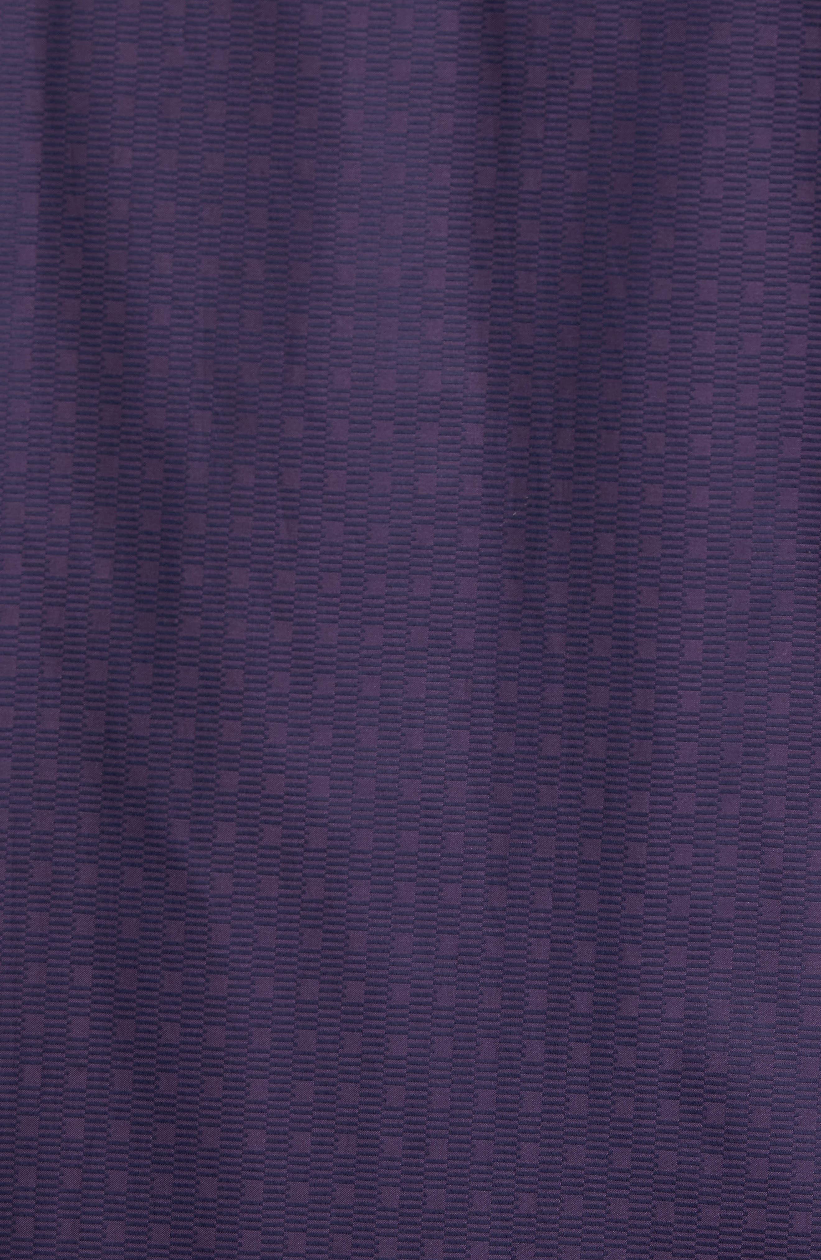 Classic Fit Geo Jacquard Sport Shirt,                             Alternate thumbnail 5, color,                             Plum