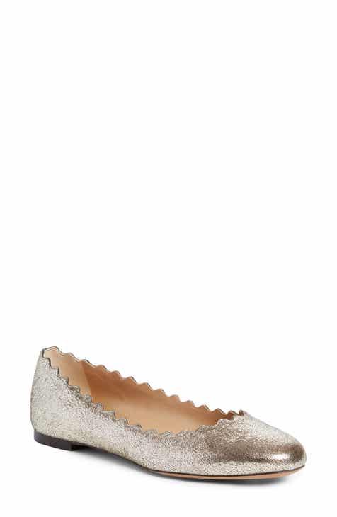 c95ad0f225d6e Chloé  Lauren  Scalloped Ballet Flat (Women)