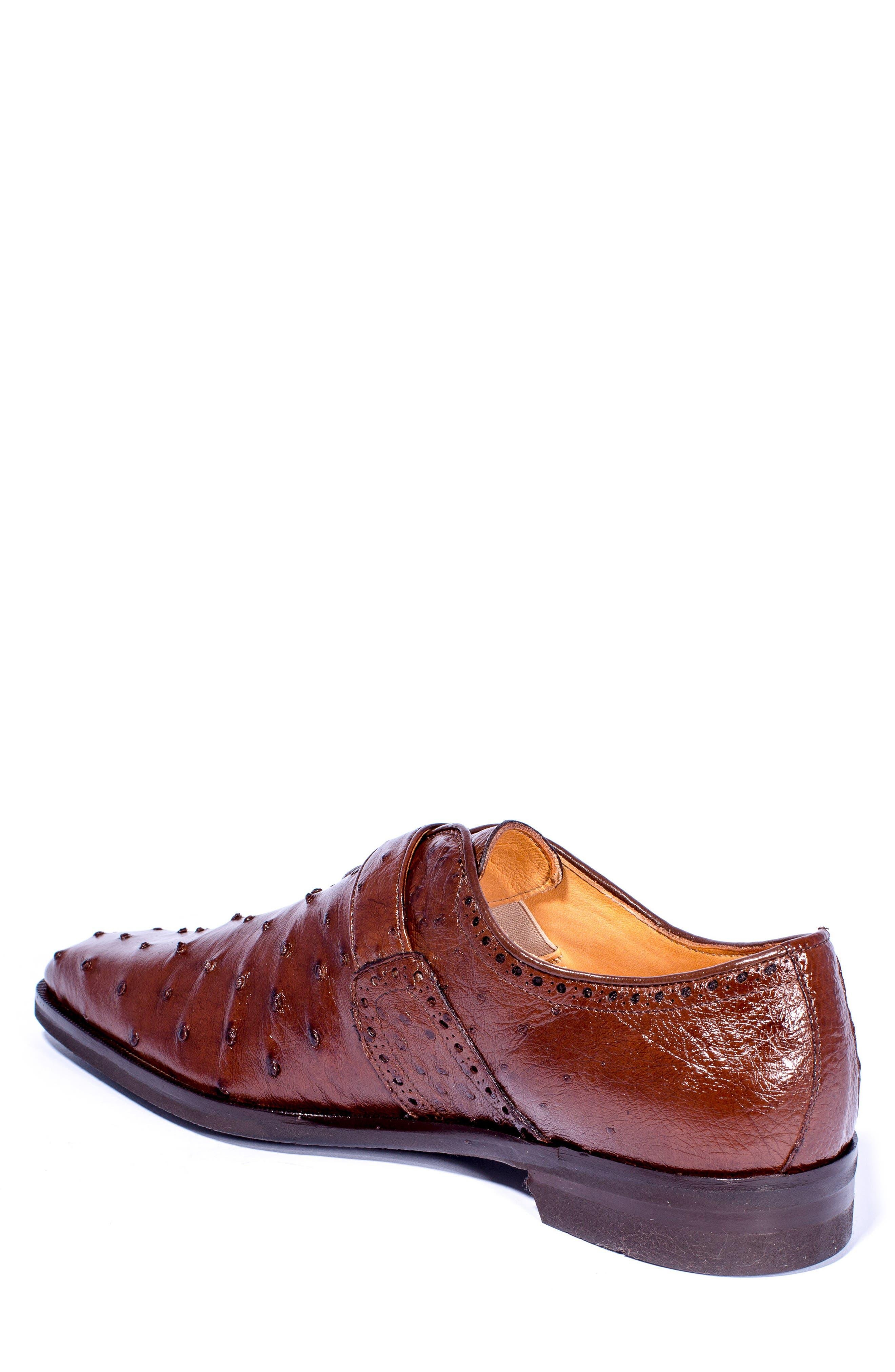 Alternate Image 2  - Zelli Antonio Monk Strap Ostrich Leather Shoe (Men)