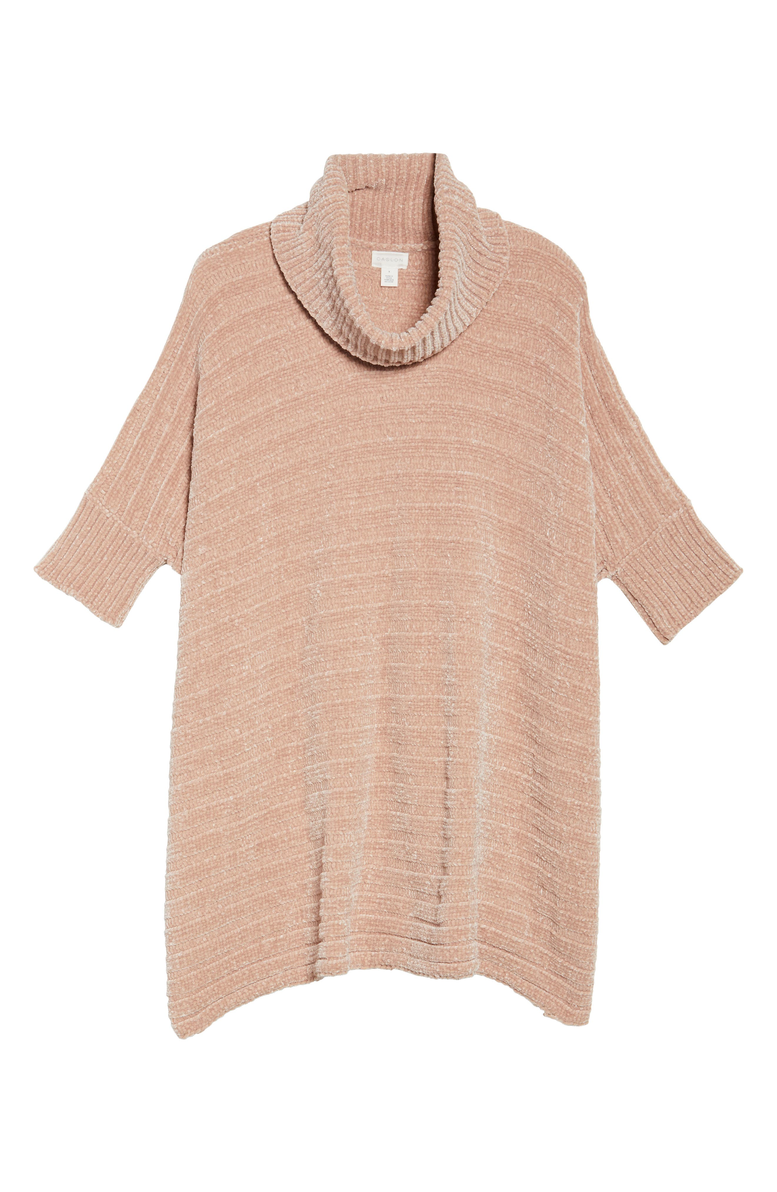 Chenille Poncho,                             Alternate thumbnail 6, color,                             Pink Adobe