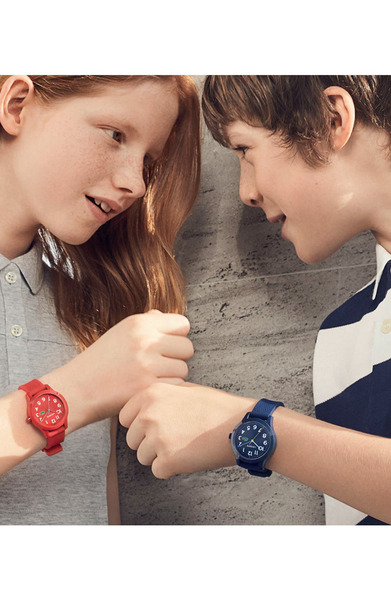 Kids 12.12 Silicone Strap Watch, 32mm,                             Alternate thumbnail 2, color,                             Red