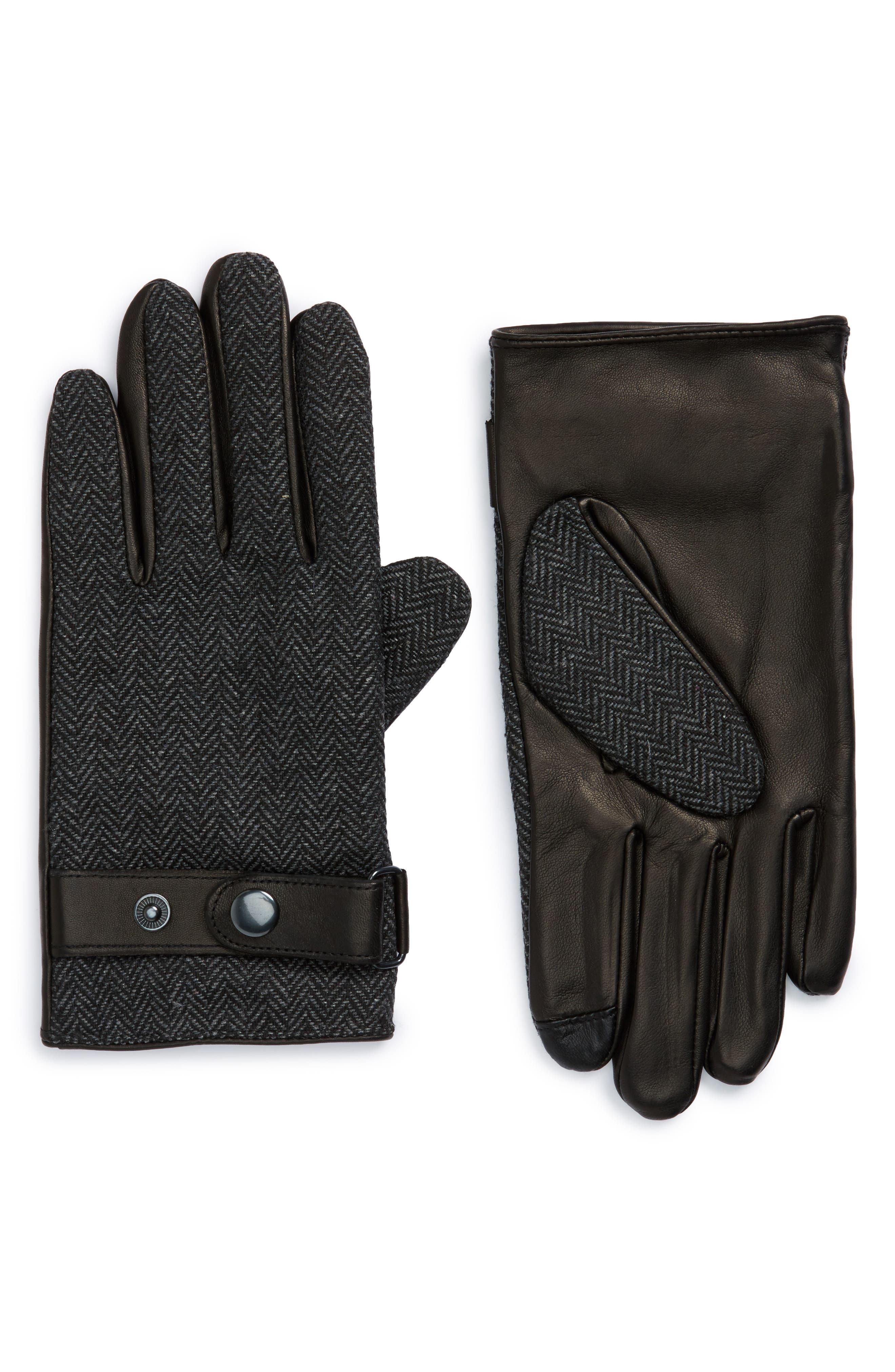 Nordstrom Men's Shop Herringbone Gloves