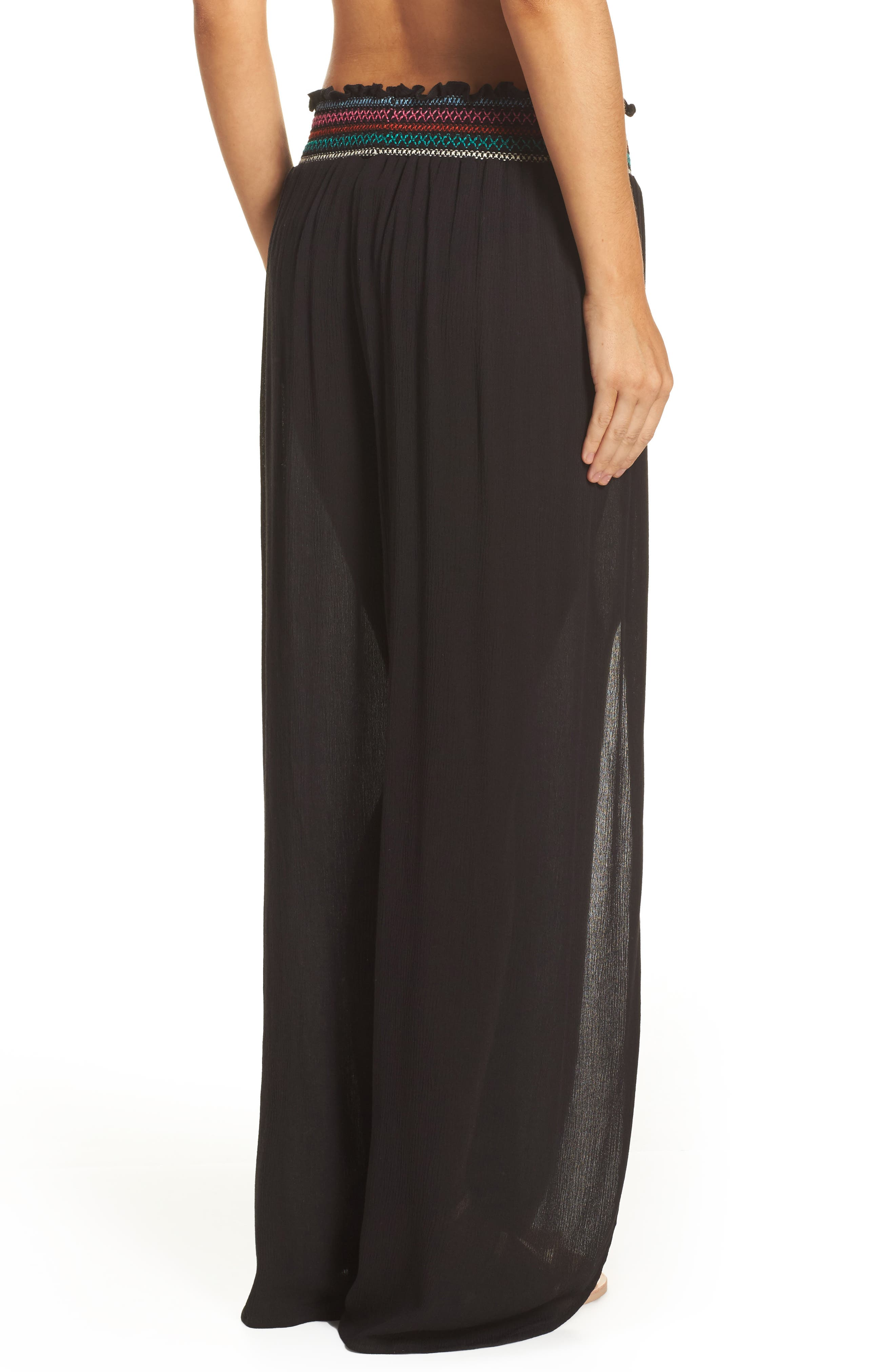 Crystal Cove Cover-Up Pants,                             Alternate thumbnail 2, color,                             Black