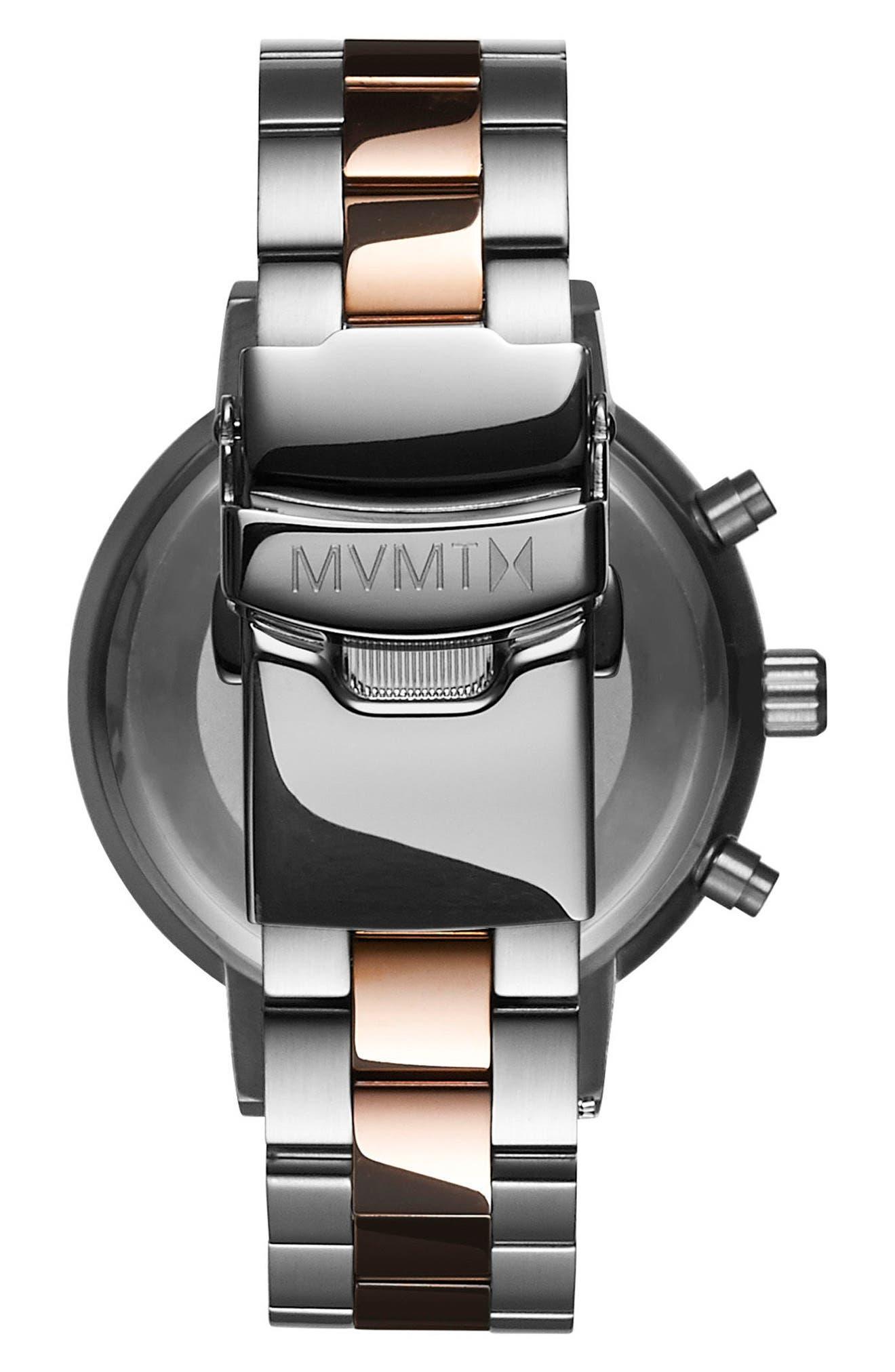 Nova Chronograph Bracelet Watch, 38mm,                             Alternate thumbnail 2, color,                             Silver/ White/ Rose Gold