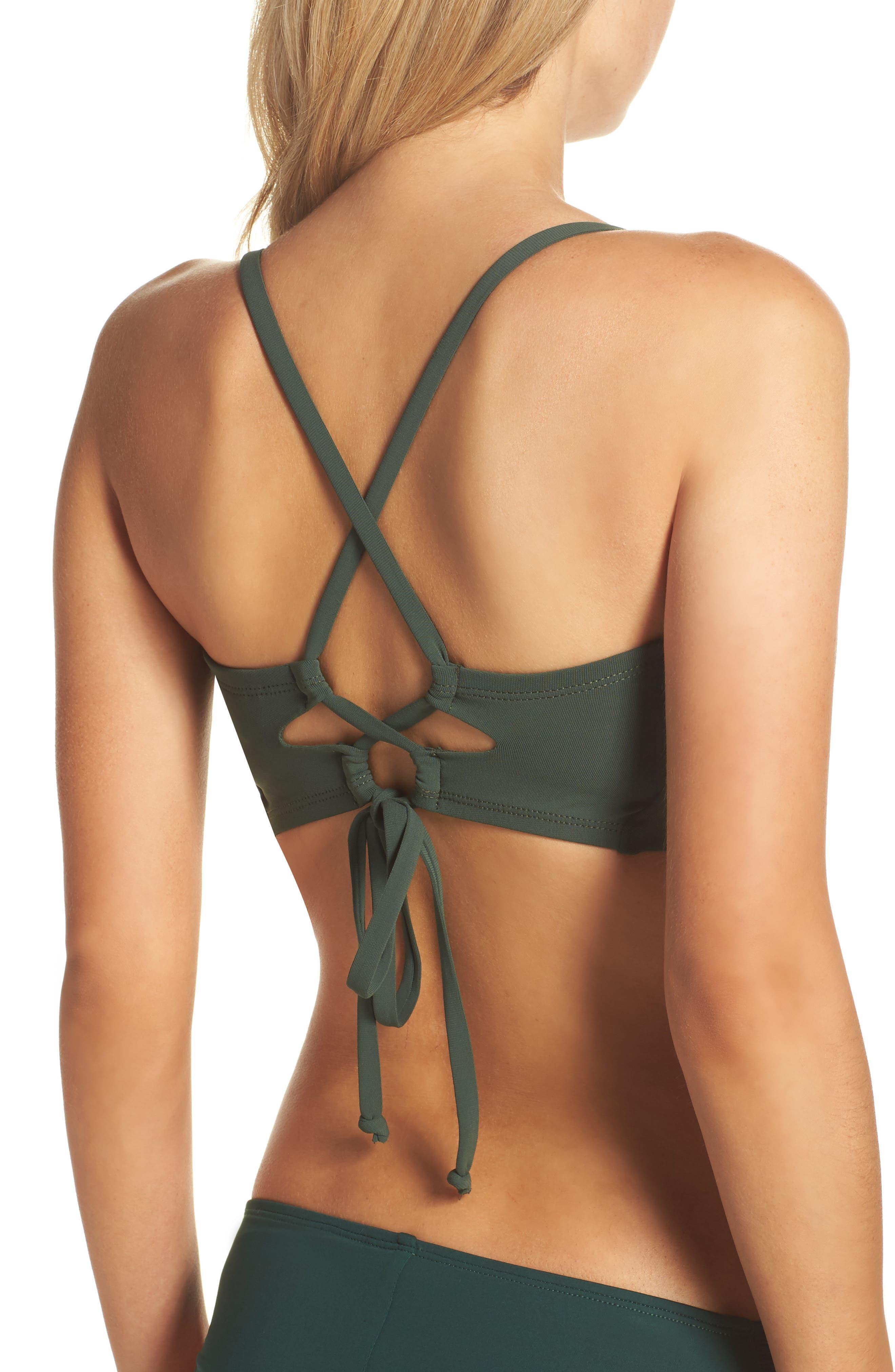 Ava Underwire D-Cup Bikini Top,                             Alternate thumbnail 2, color,                             Deep Forest