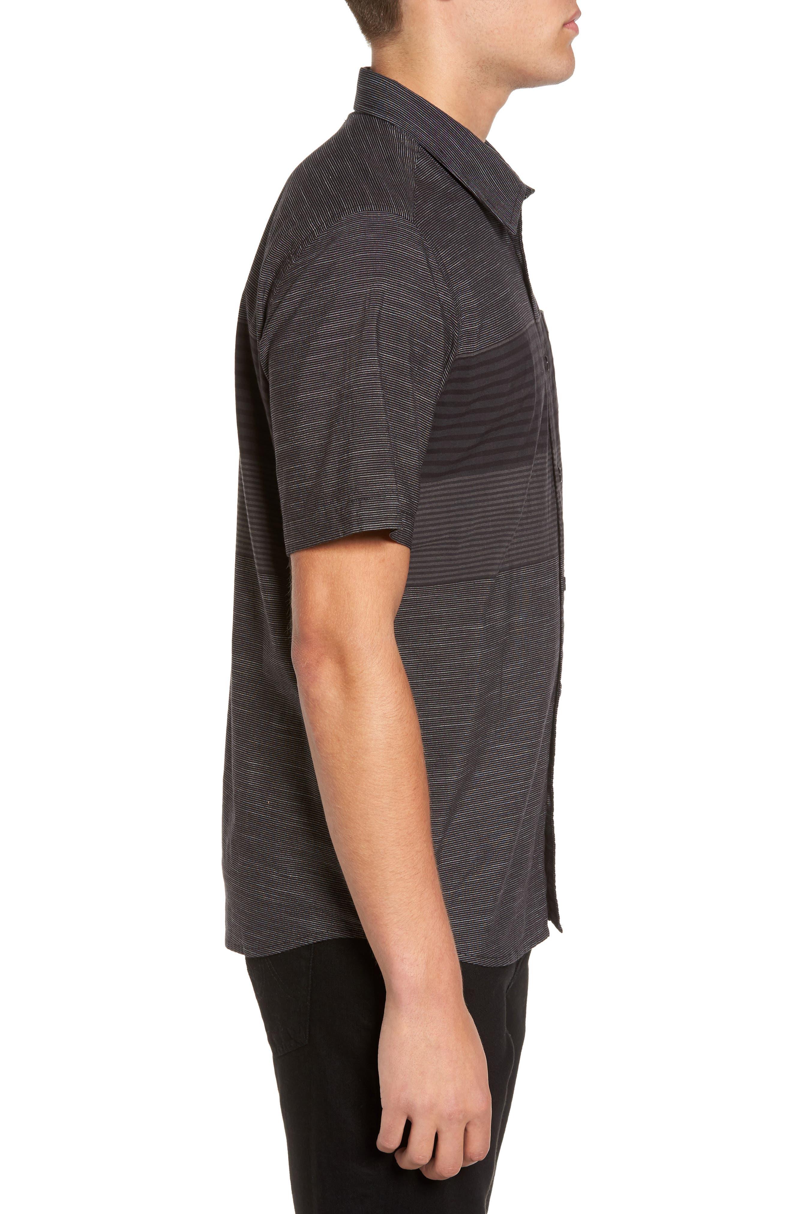 Altair Stripe Sport Shirt,                             Alternate thumbnail 3, color,                             Black