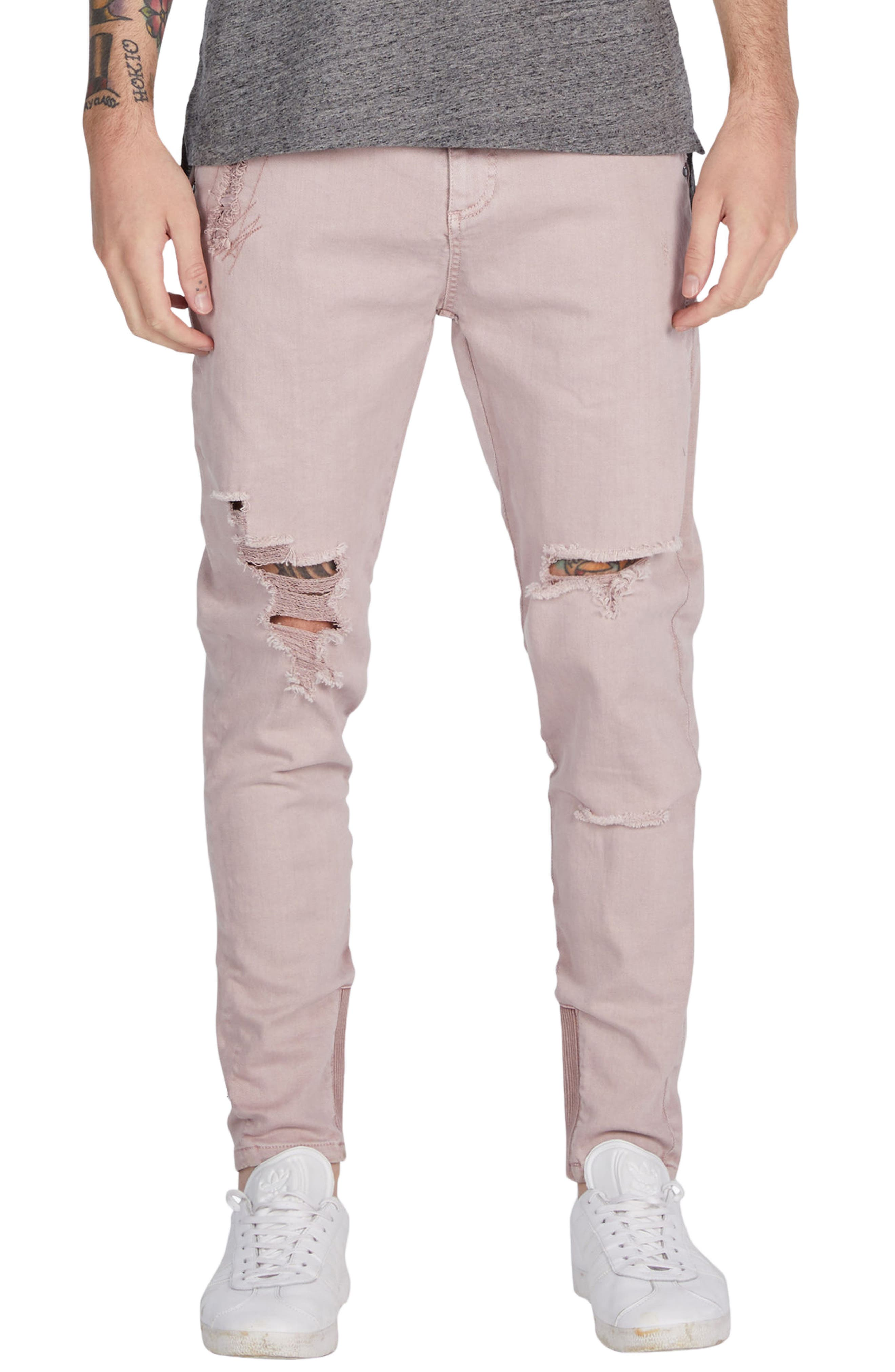 ZANEROBE Sharpshot Slim Fit Denim Pants (Smashed Quartz)