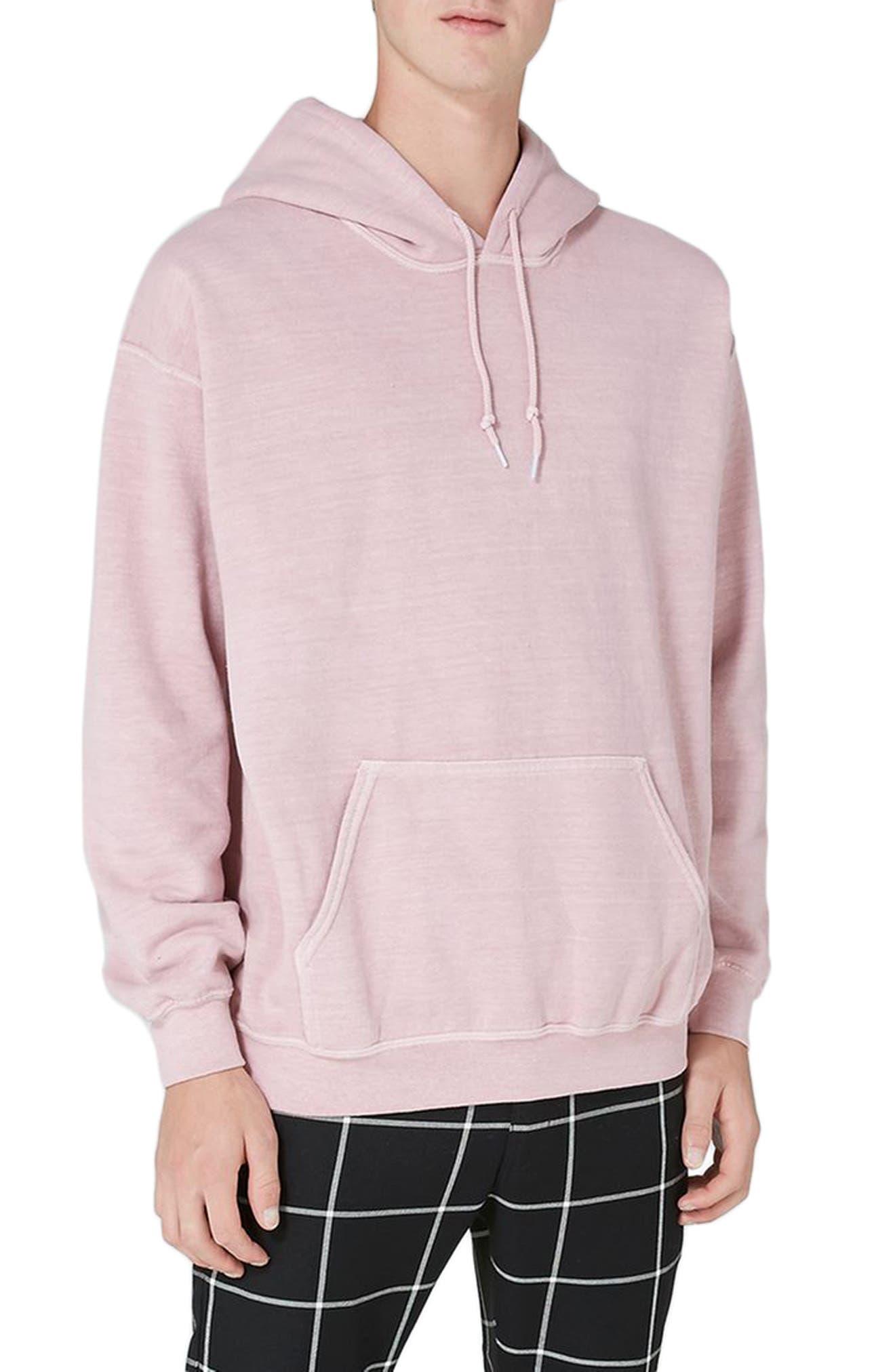 Topman Pink Washed Hoodie
