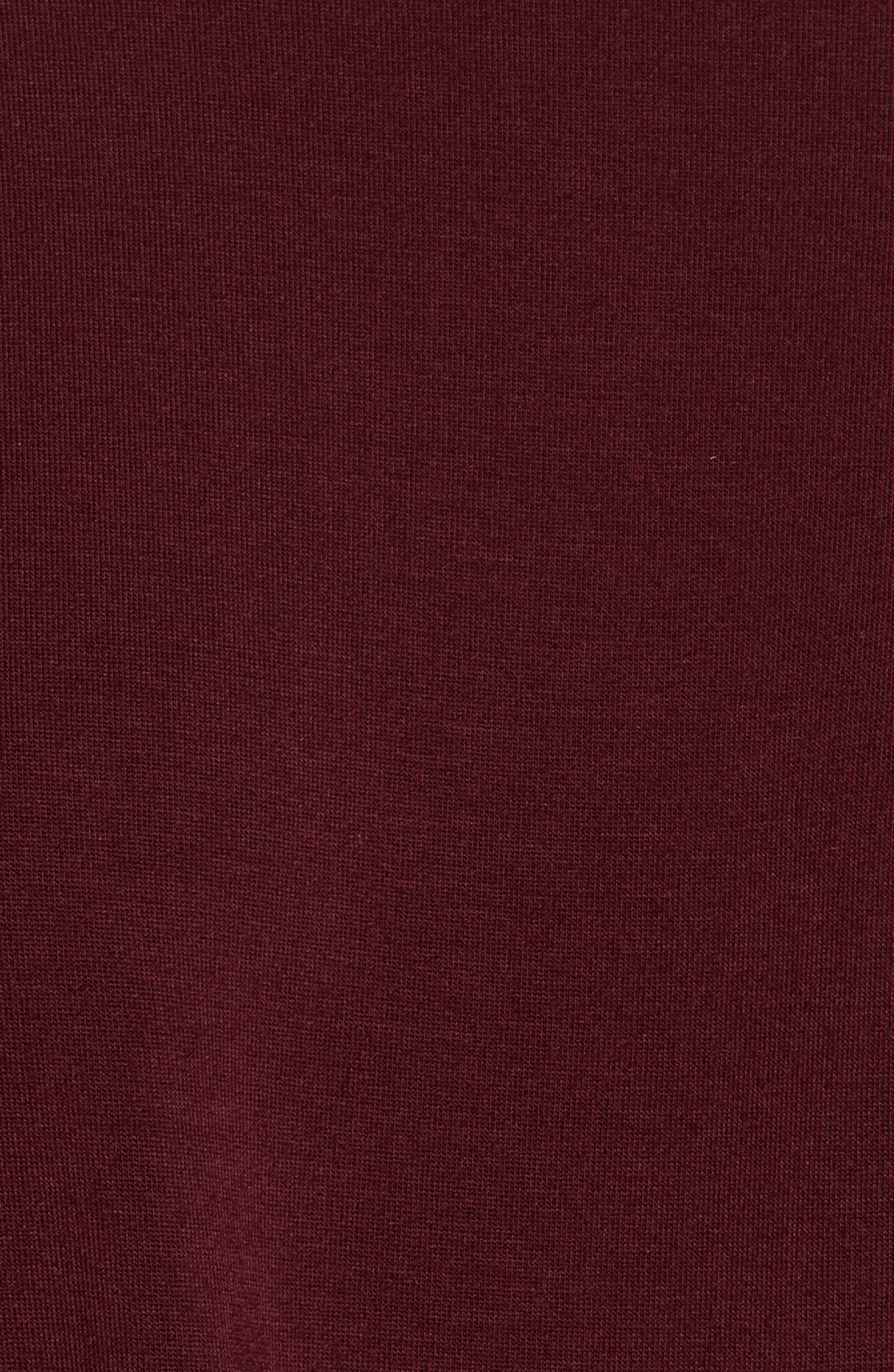 Adeline Drape Tee,                             Alternate thumbnail 5, color,                             Plum